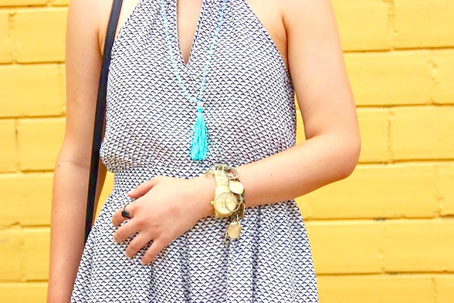 Accessory Details and a close up look of my summer romper