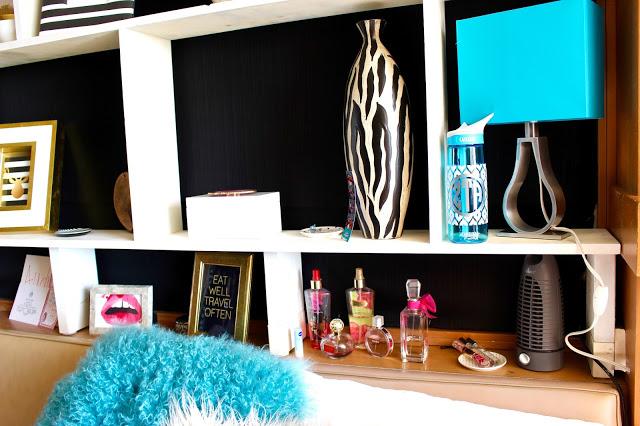 decor - Texas Tech Dorm Rooms Tour by popular Texas lifestyle blogger Audrey Madison Stowe