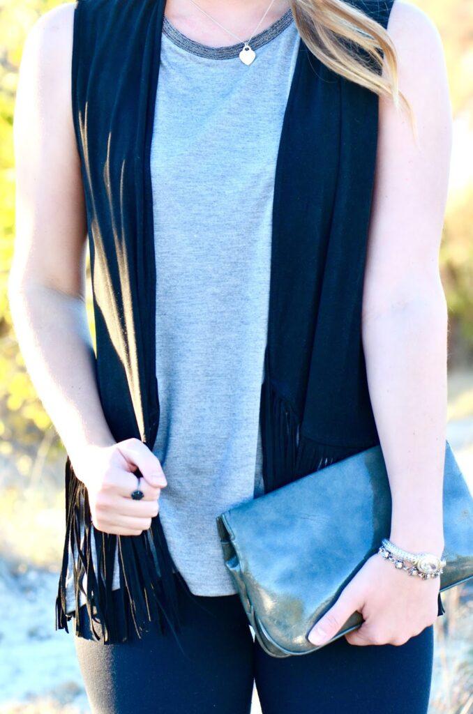 black and grey fashion