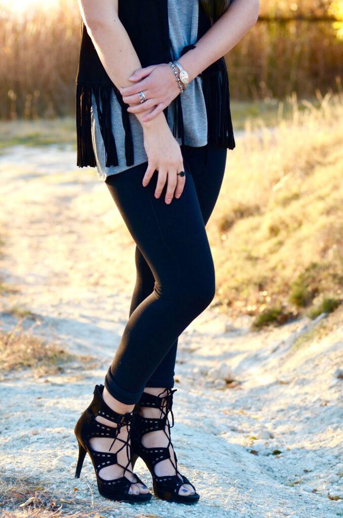 black heels fall inspired