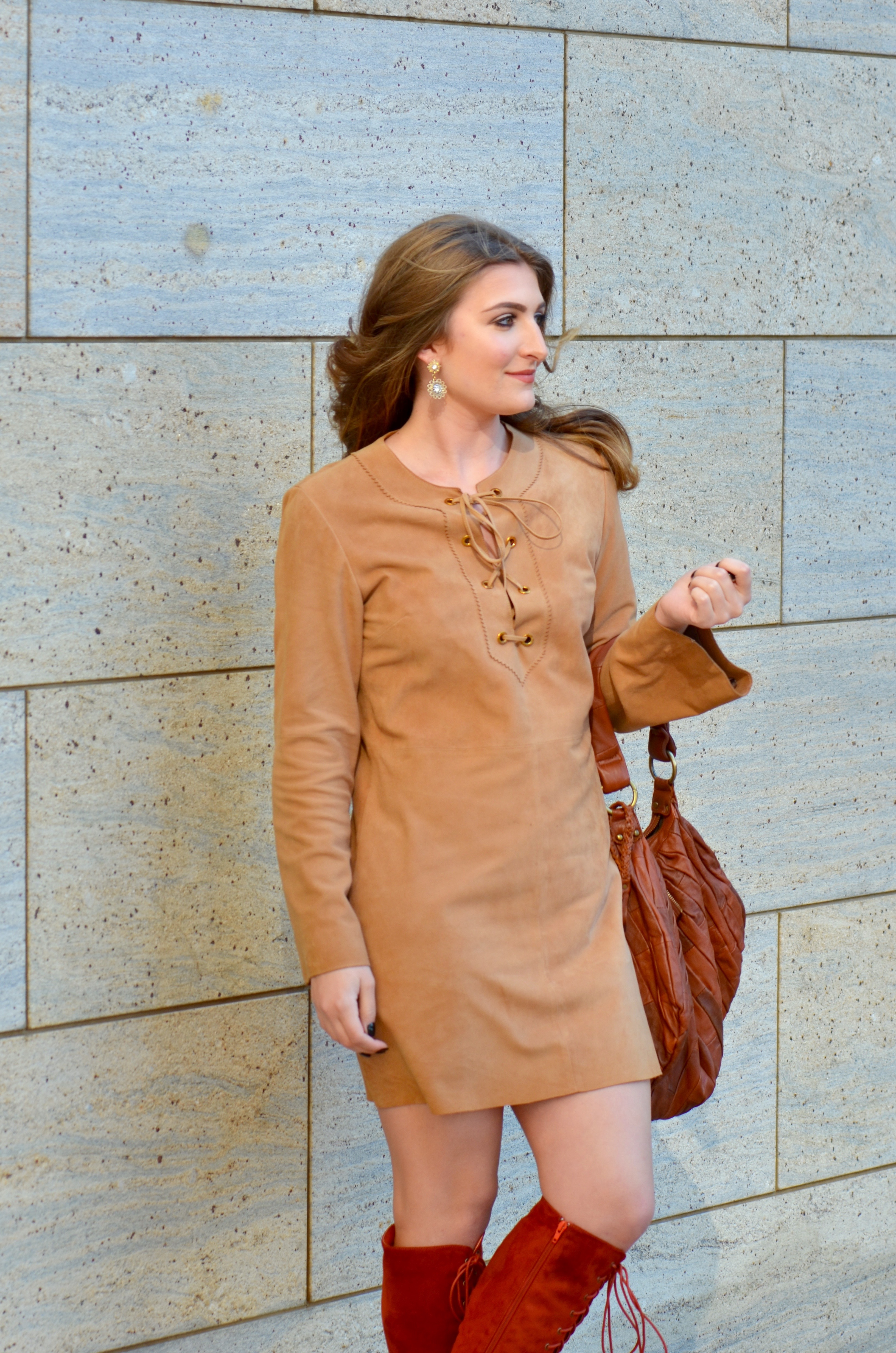 suede outfit for the holidays