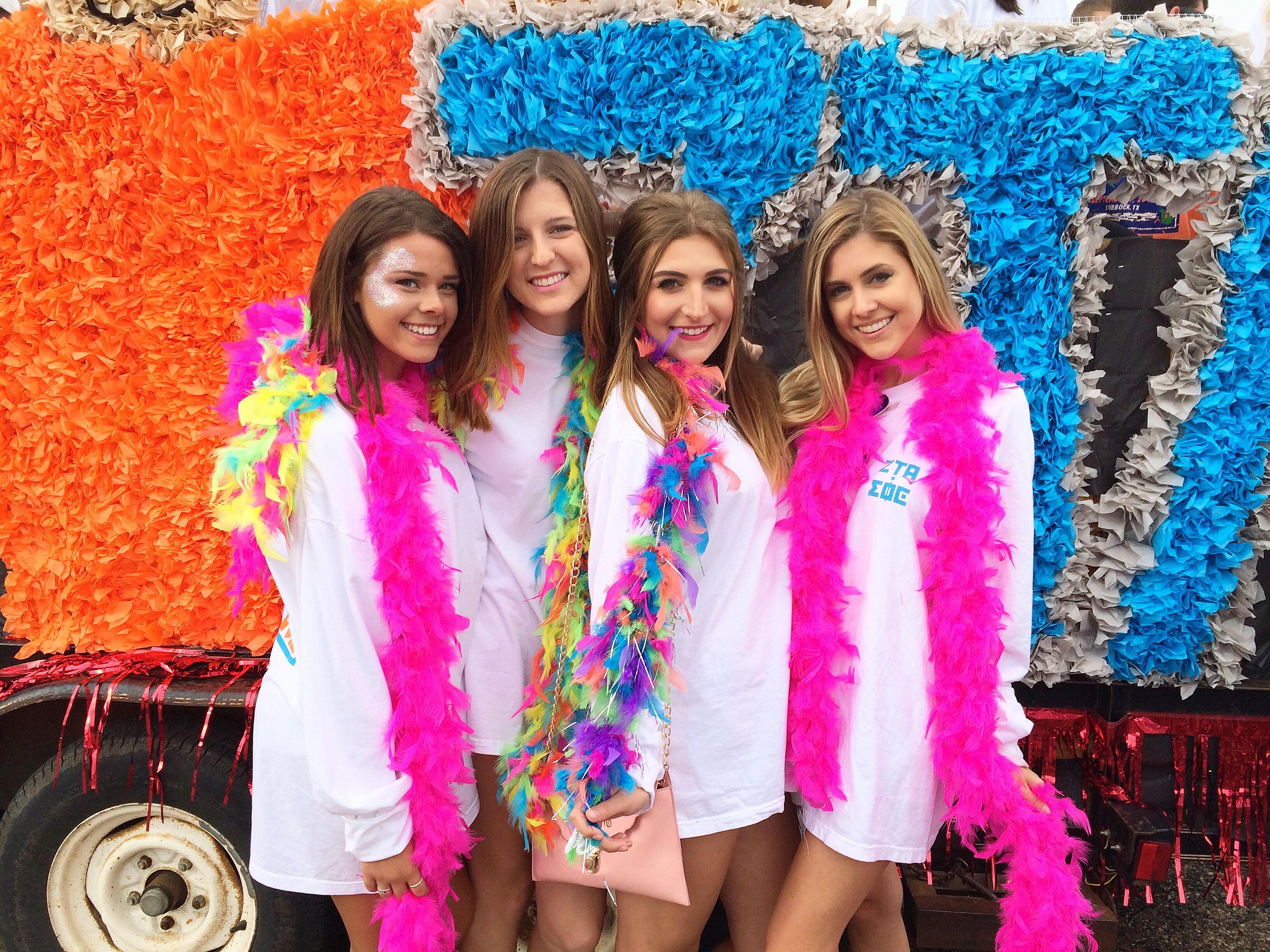 college homecoming with zeta tau alpha 2015