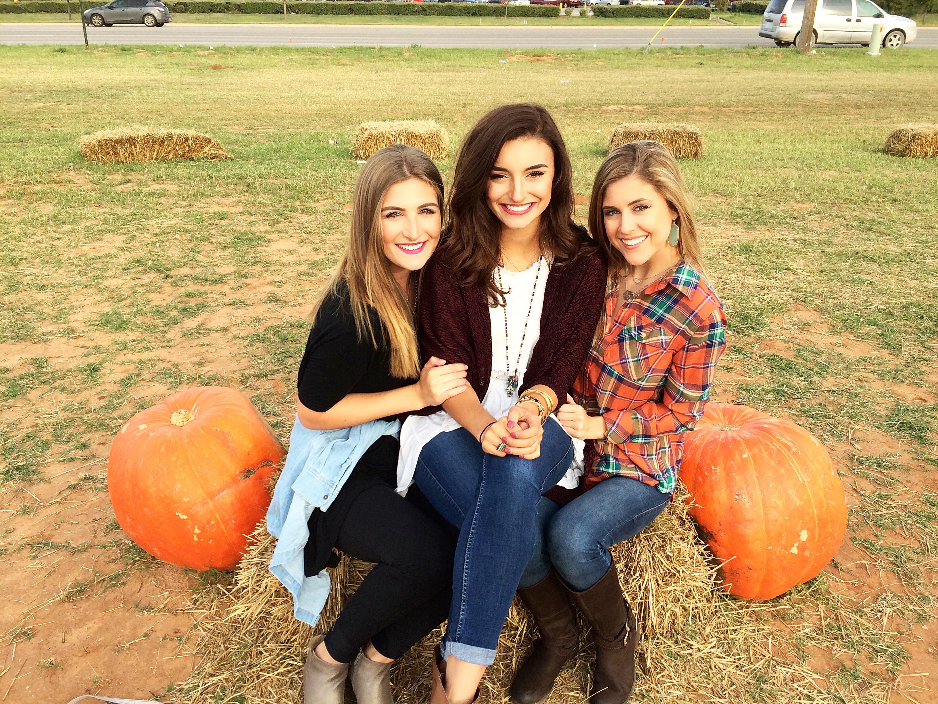 pumpkin patch with sorority friends