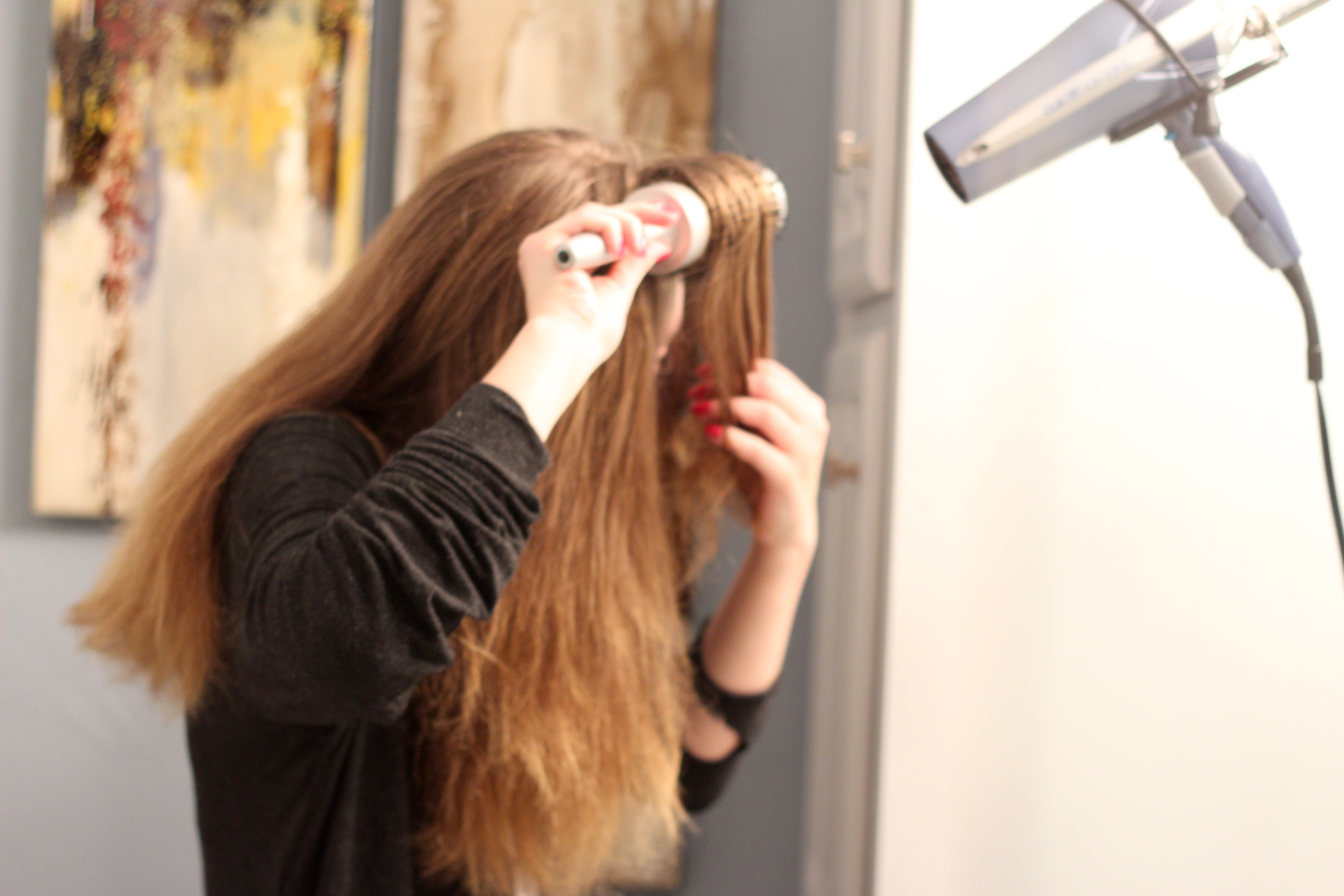 tips for the best way to blow dry your hair - Round Brush from Frizzy to Sleek Hair by popular Texas style blogger Audrey Madison Stowe