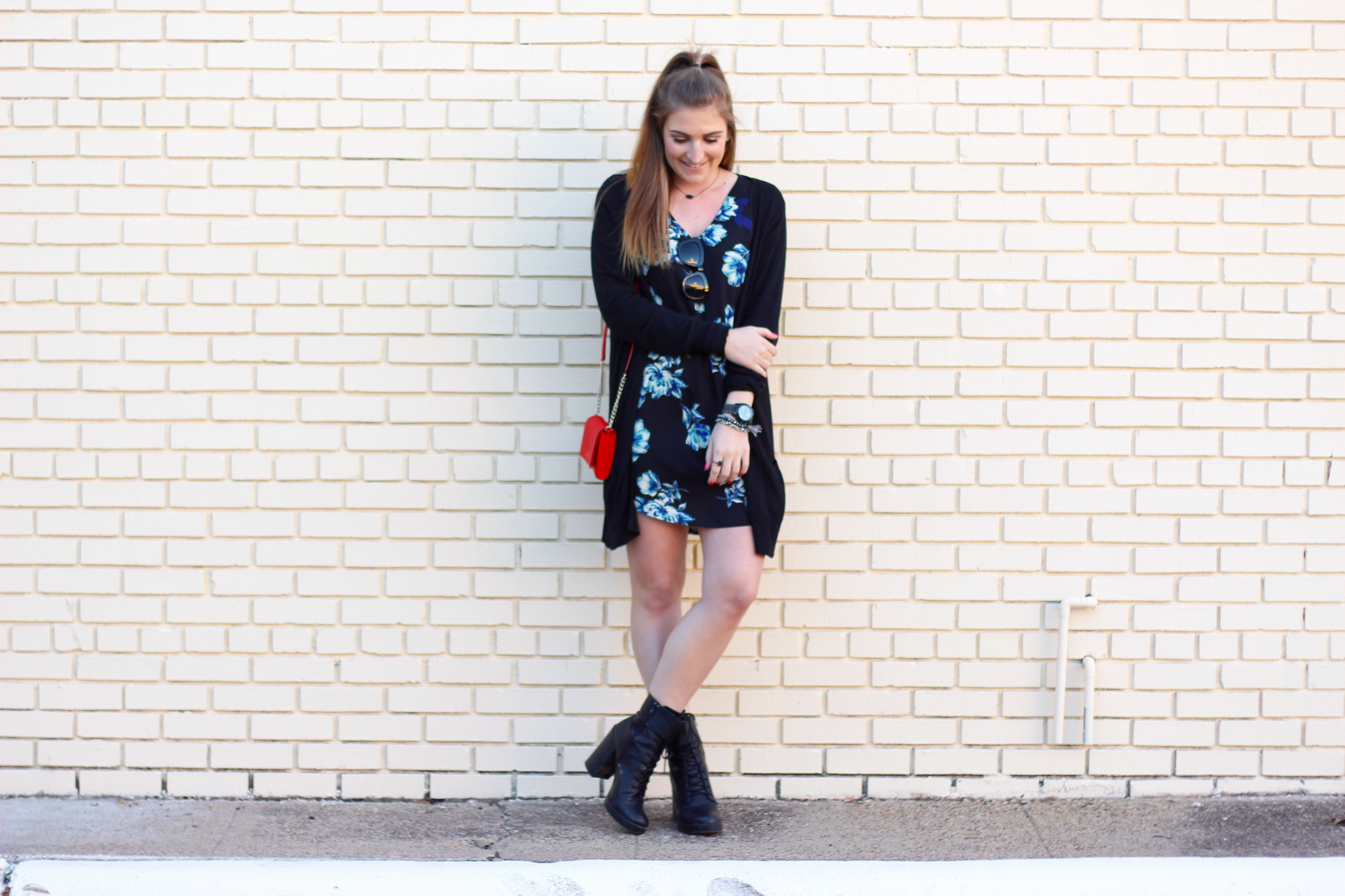 edgy affordable look with a tunic dress