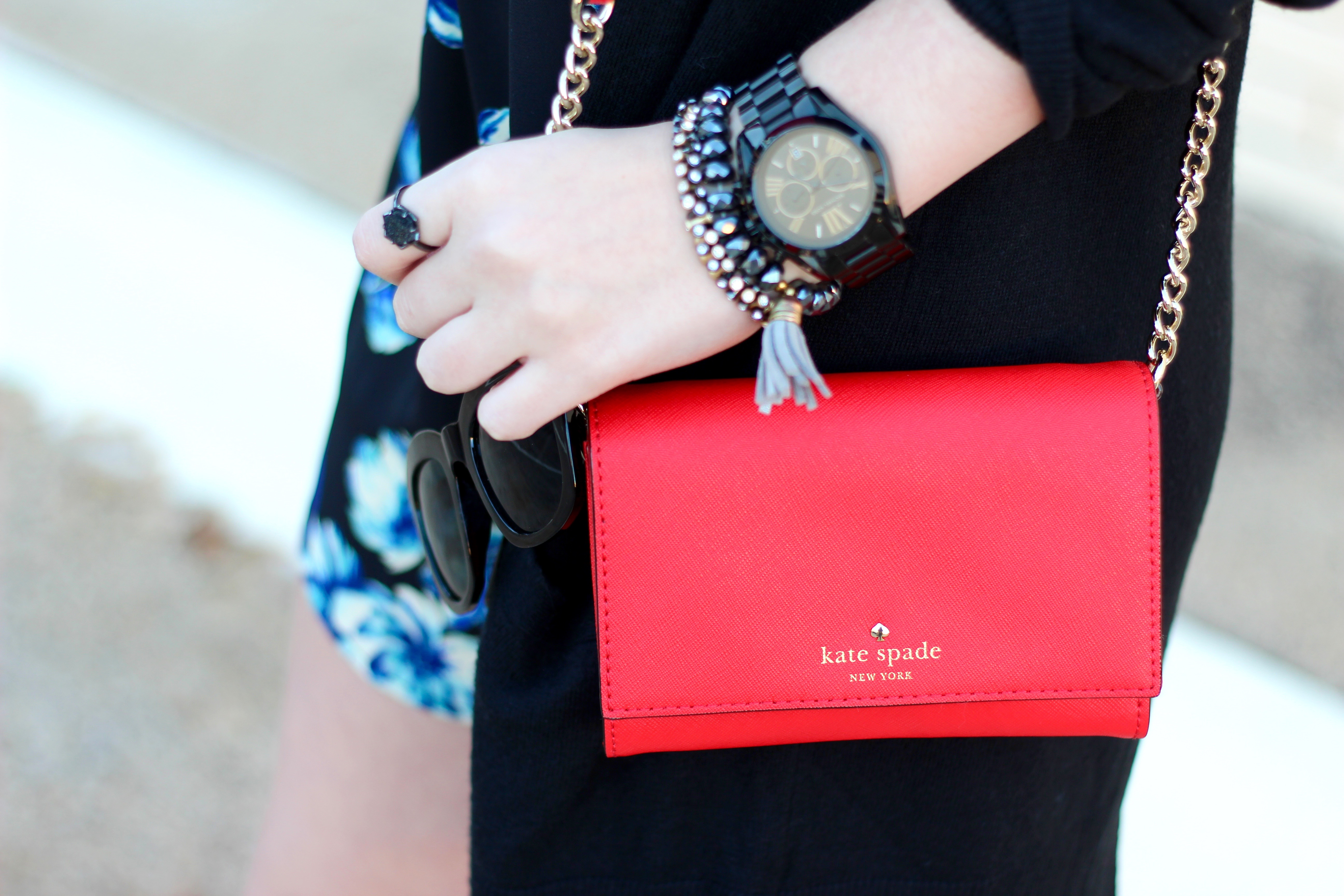 kate spade and black accessories