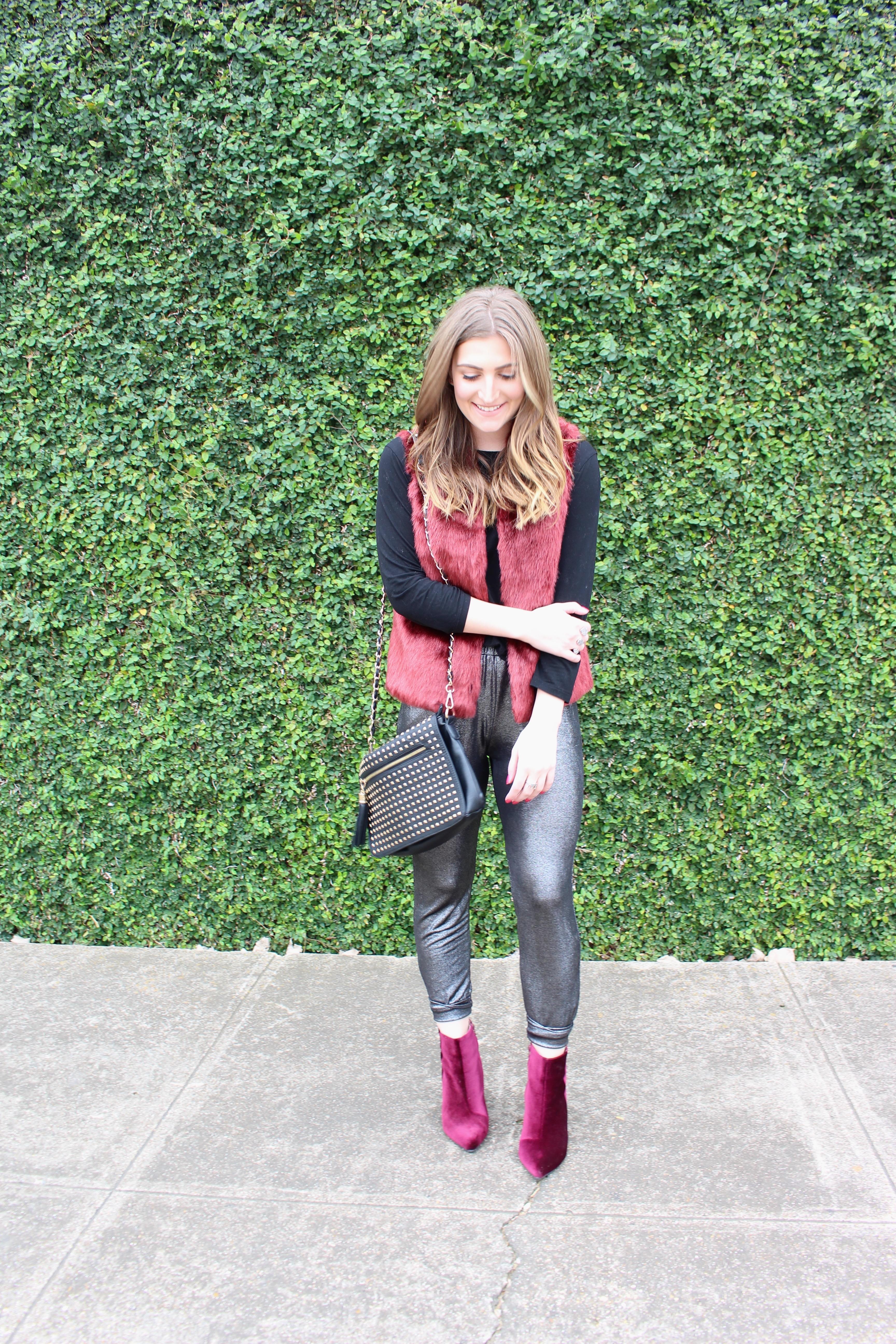 velvet booties in the winter