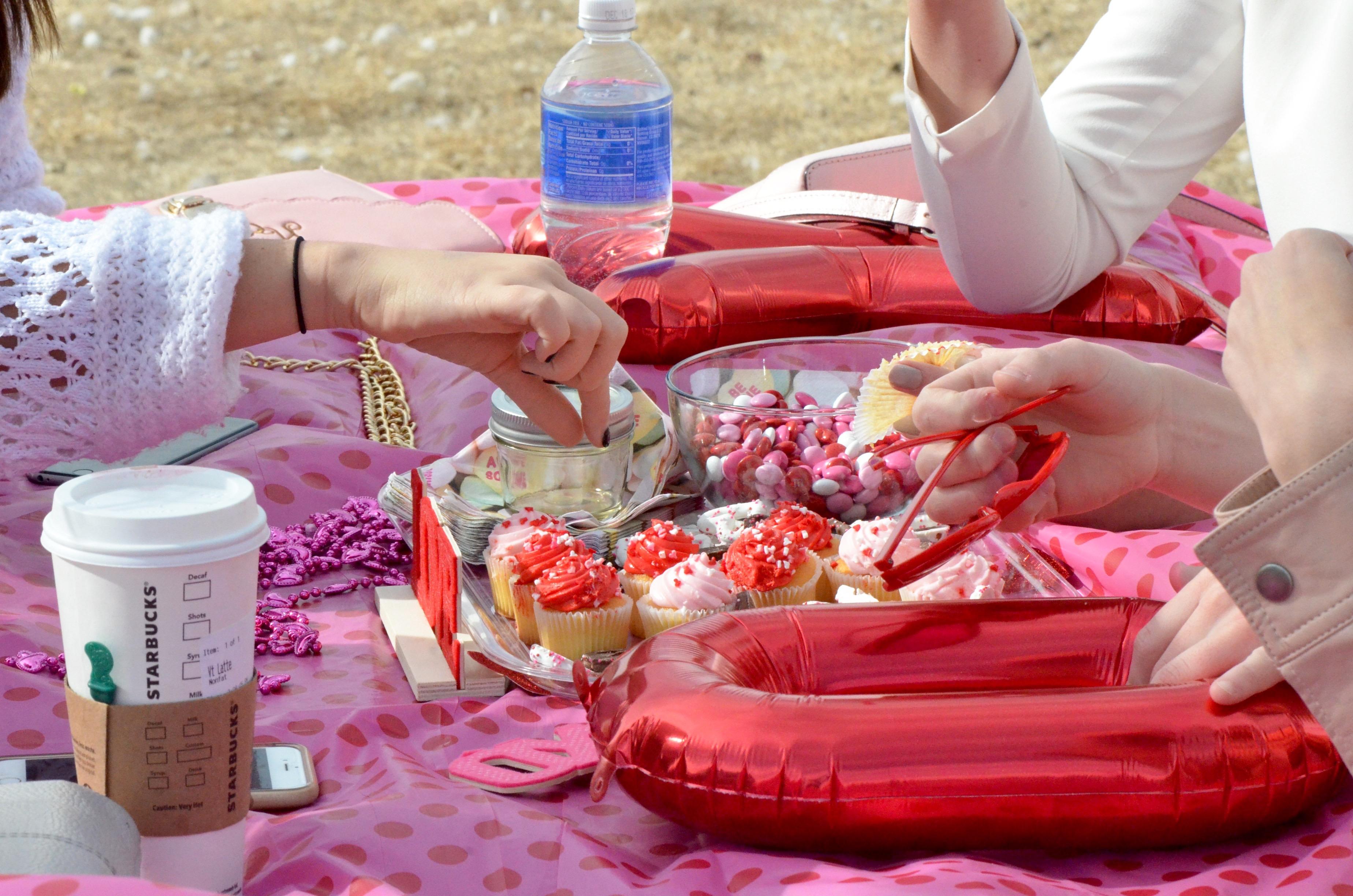 galentines setup picnic