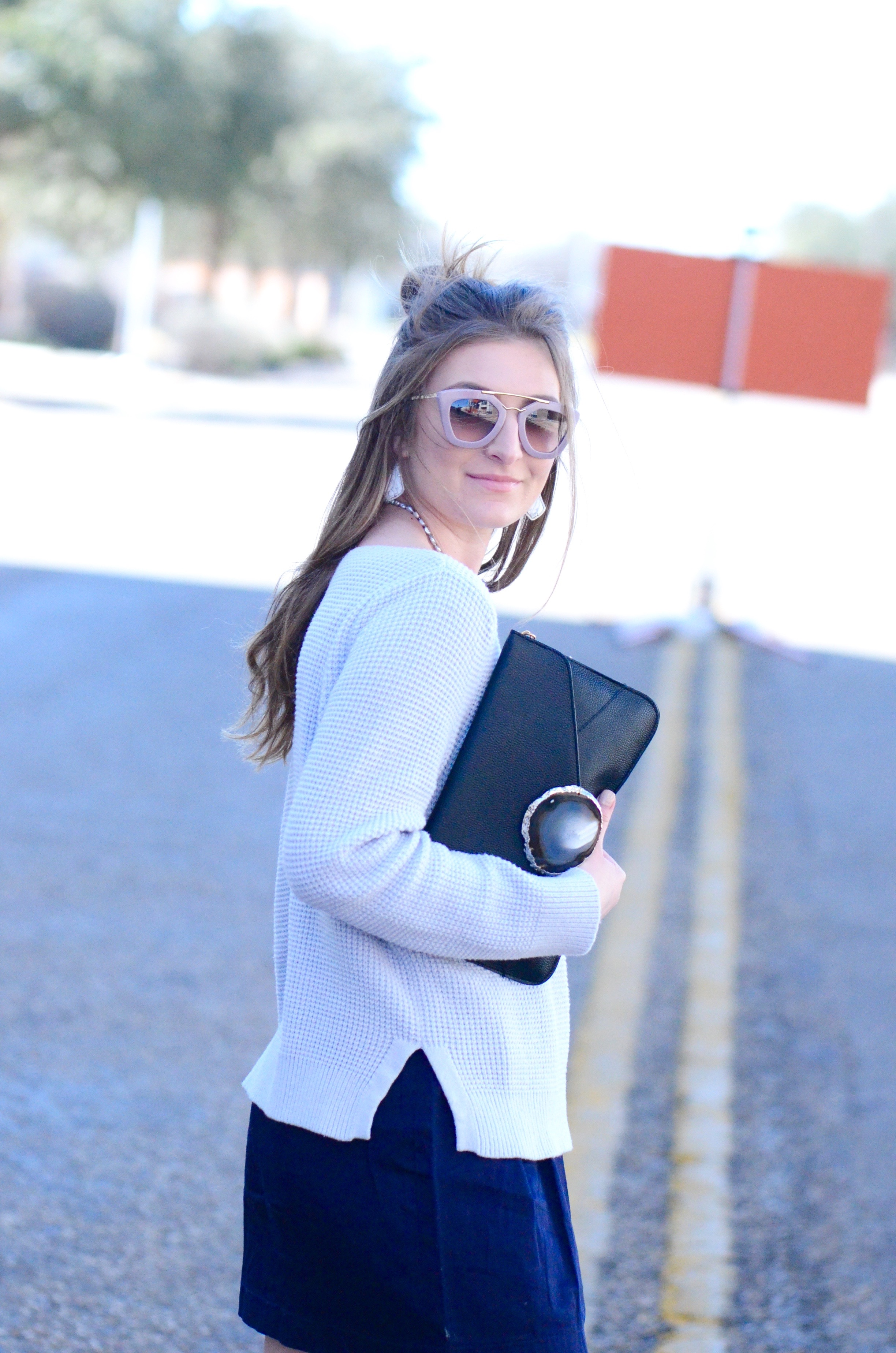 blue hued outfit
