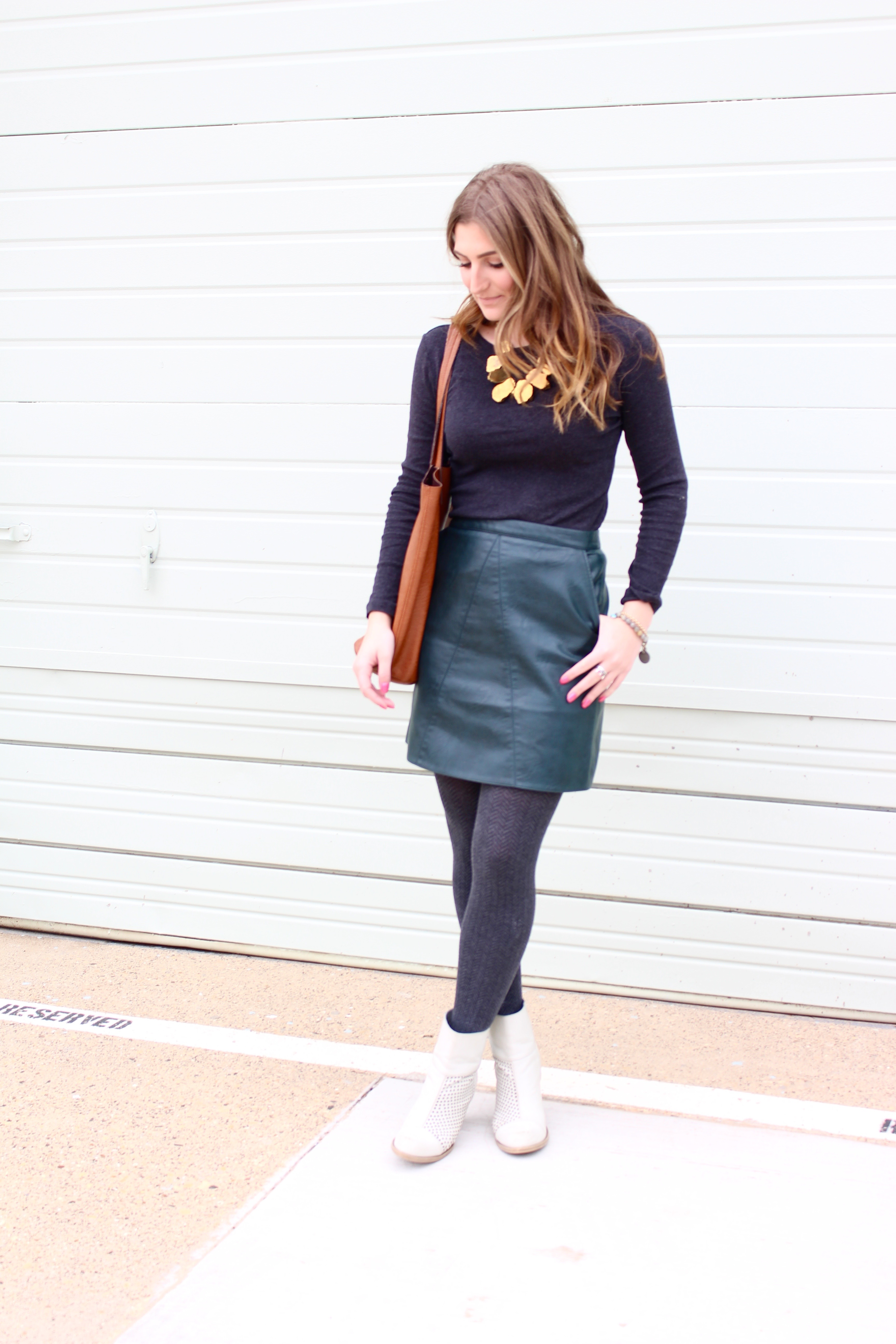 zara leather skirt super affordable