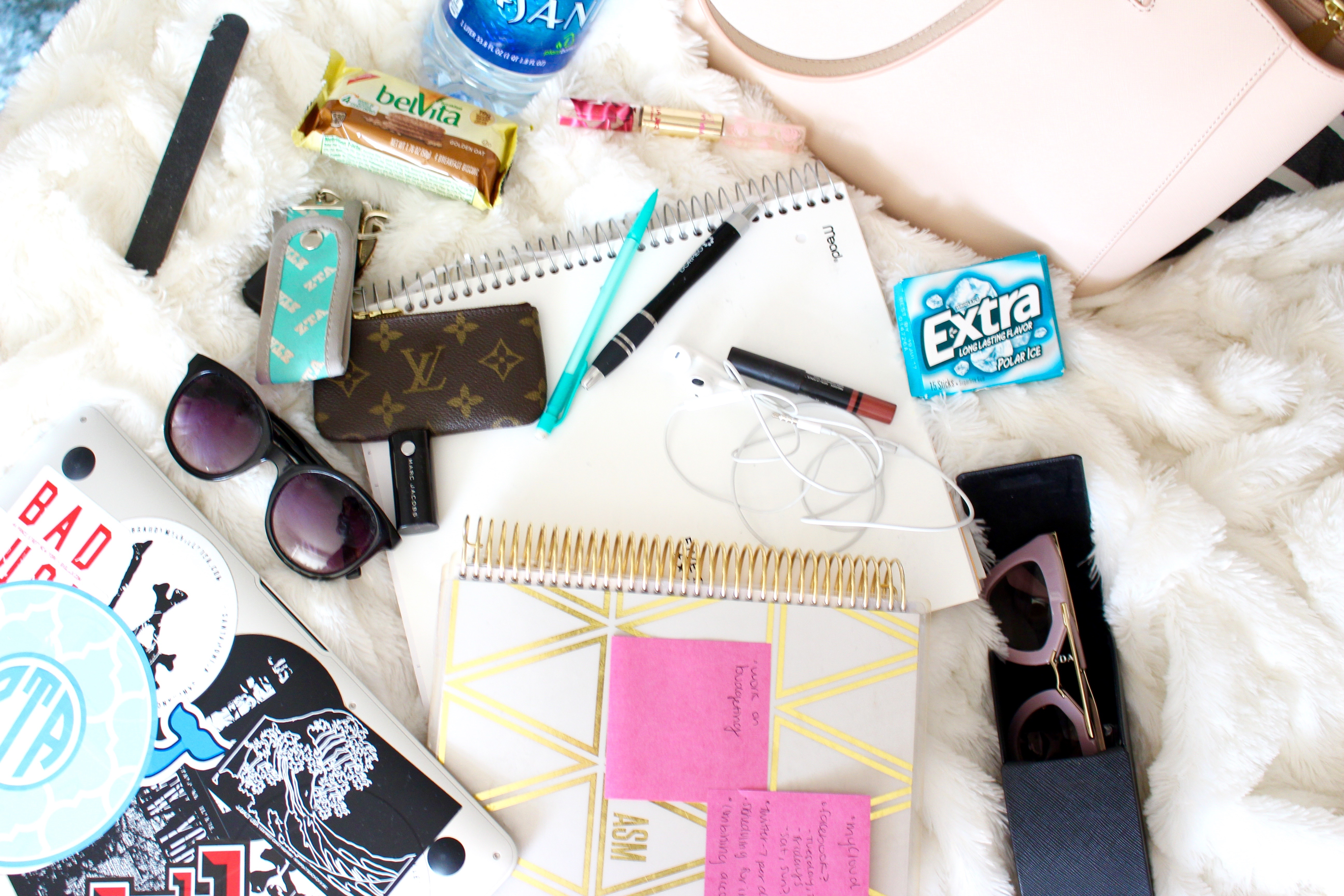 details of everything in my purse