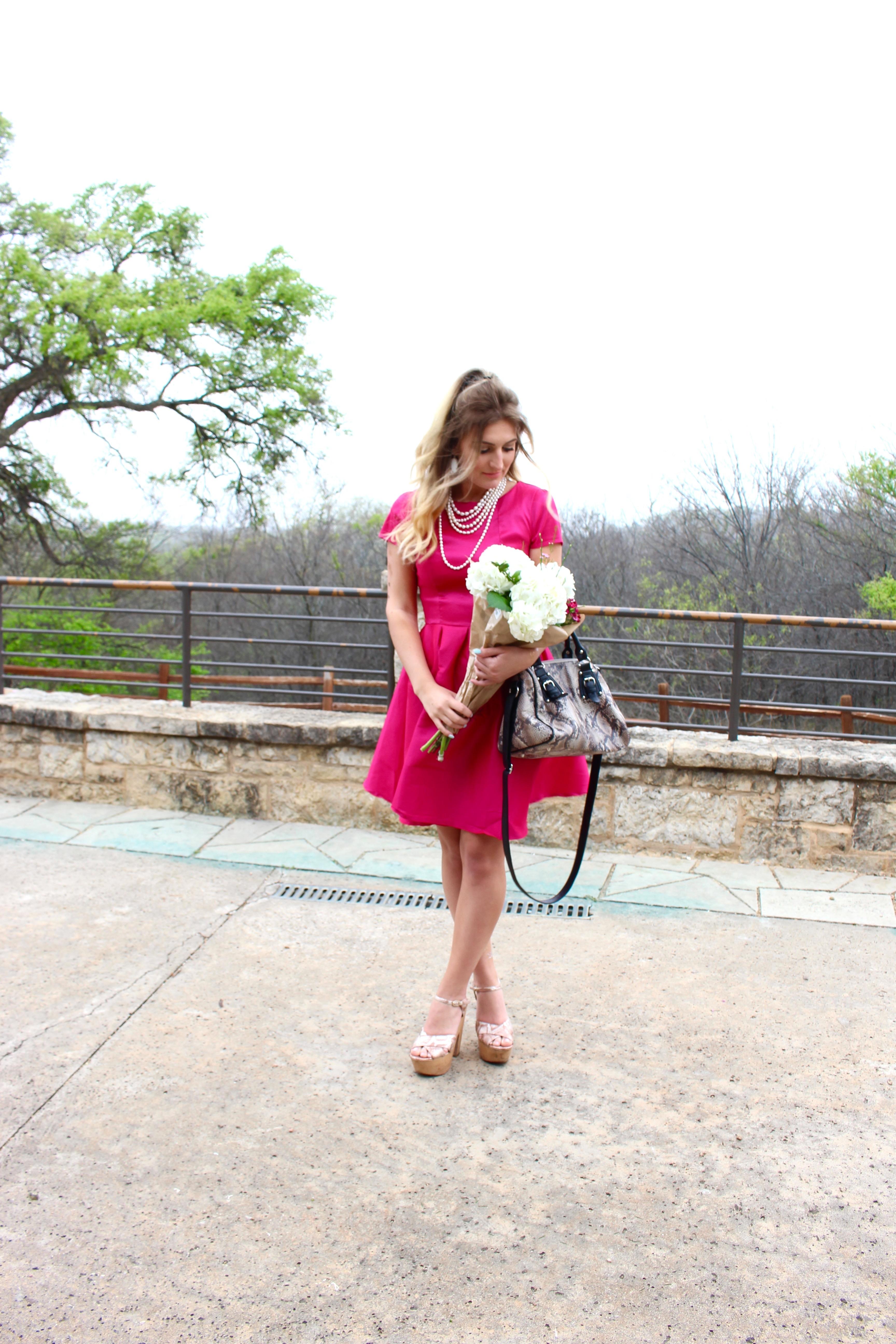 hot pink shabby apple dress