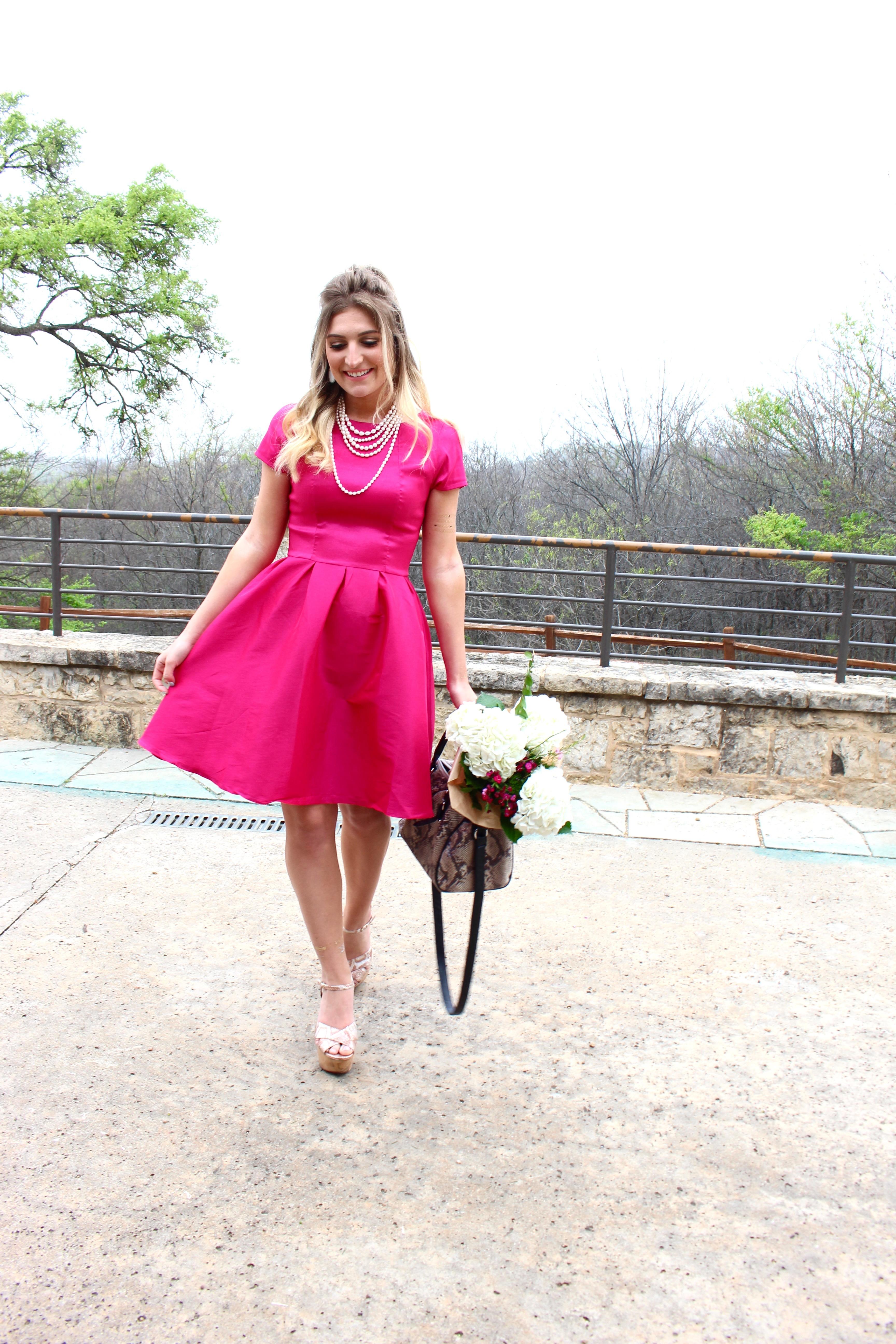 hot pink barbie doll dress