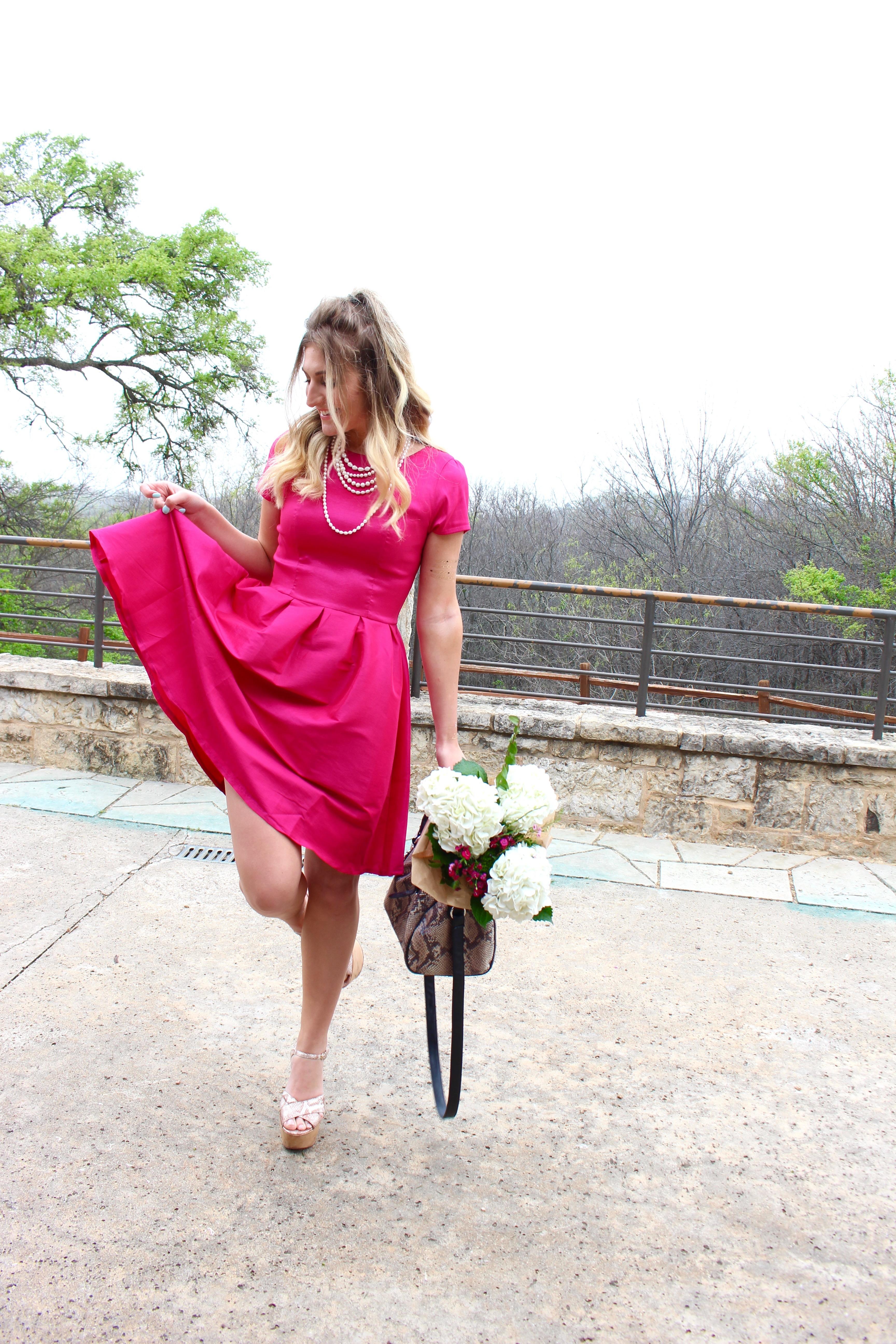 hot pink classy dress