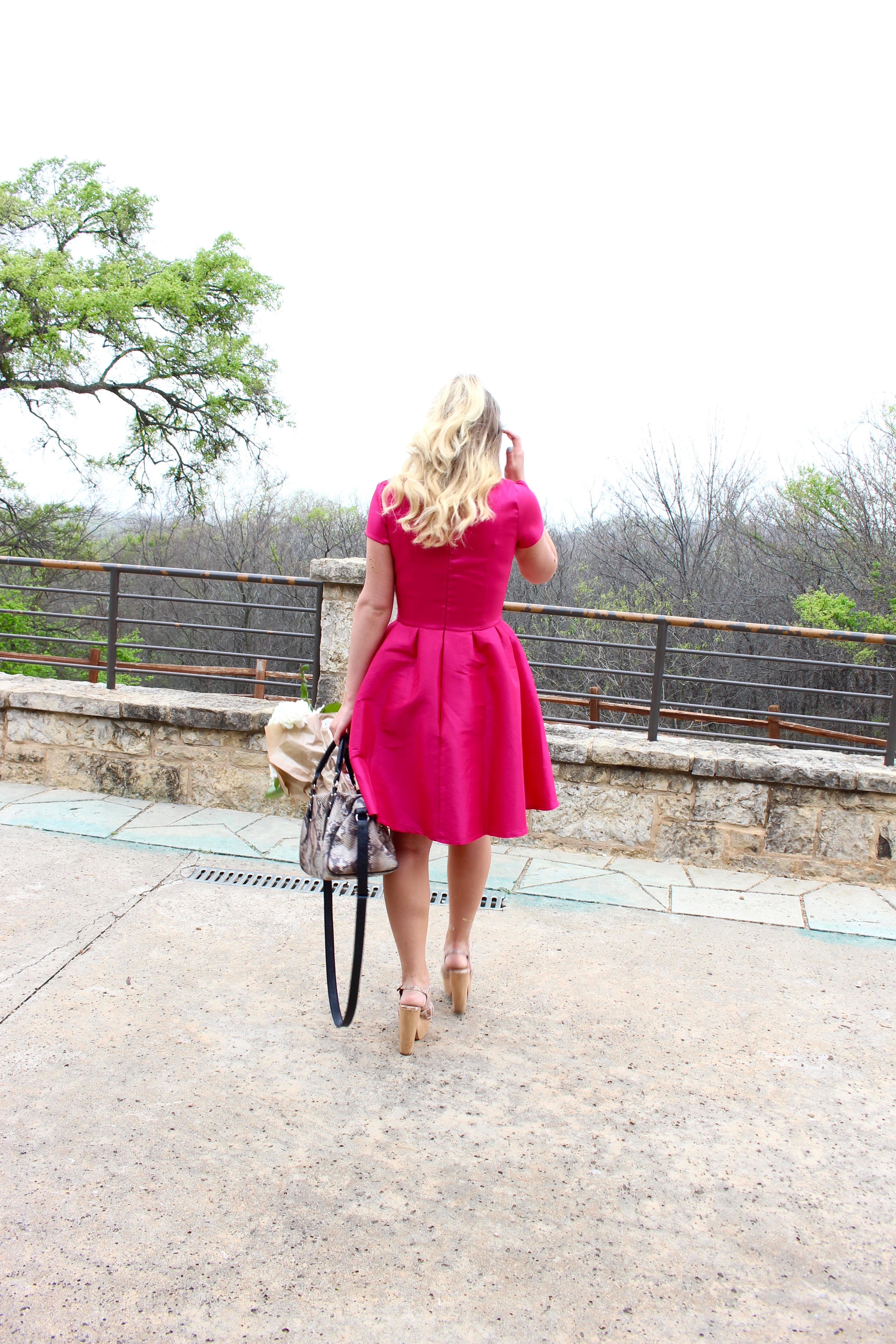 nutcracker hot pink dress
