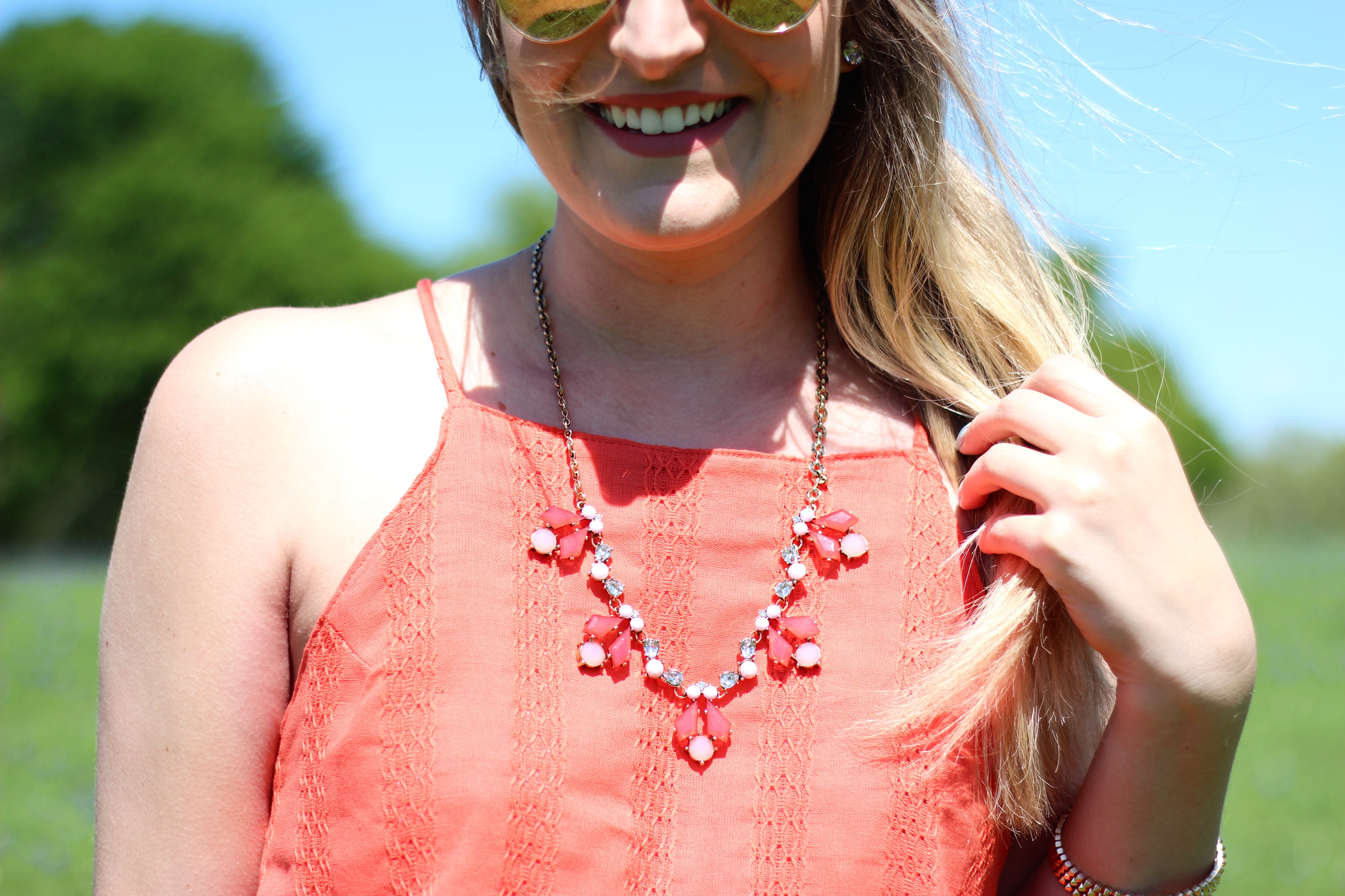 urban peach boutique necklace