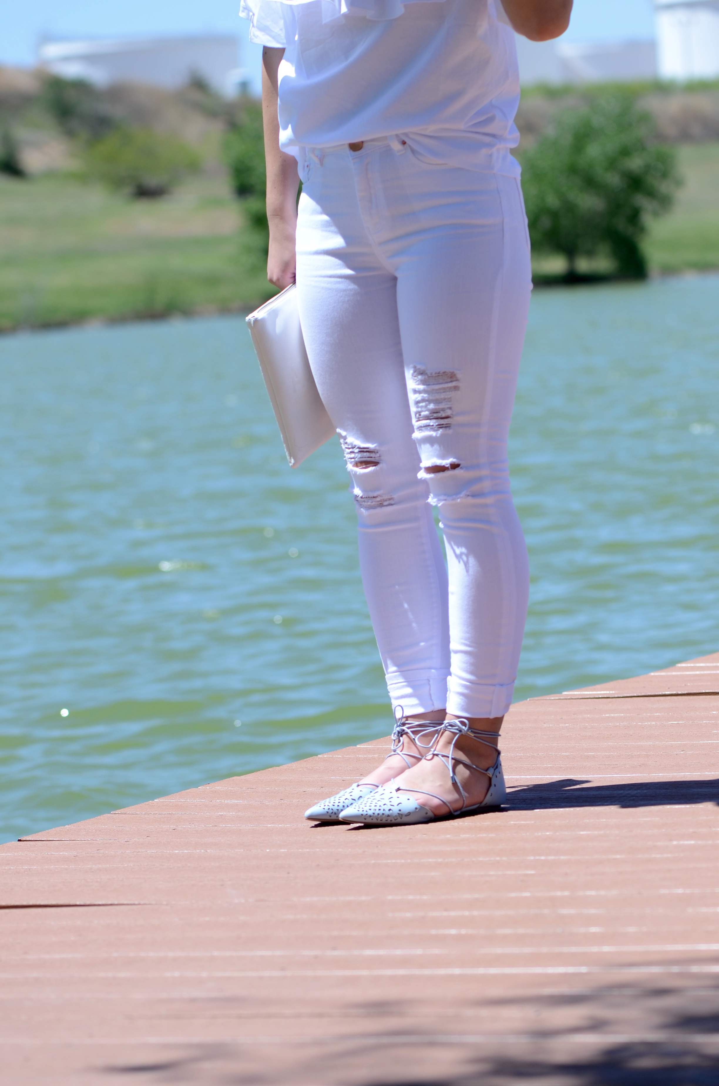 ripped white asos jeans