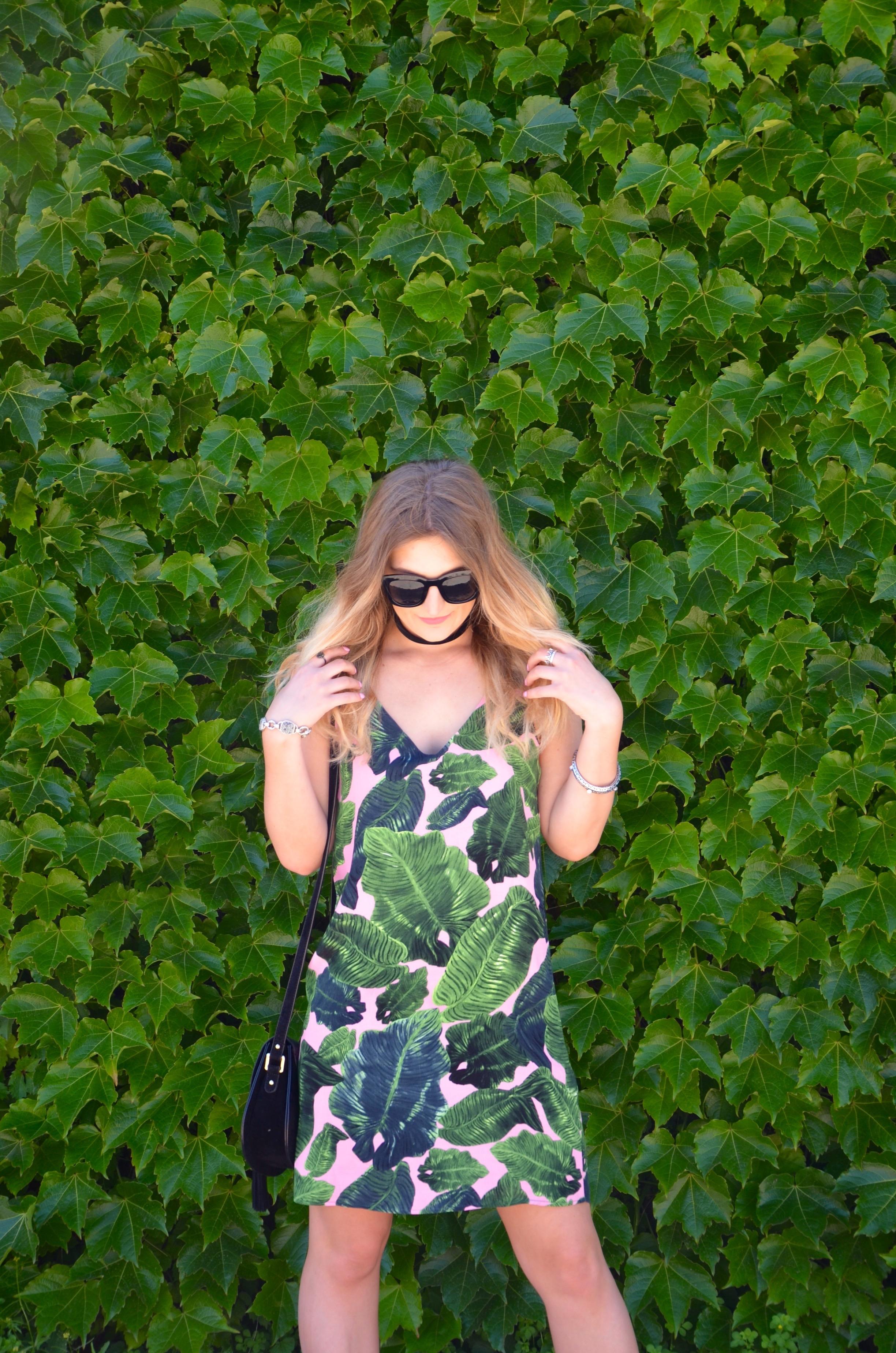 topshop leaf dress
