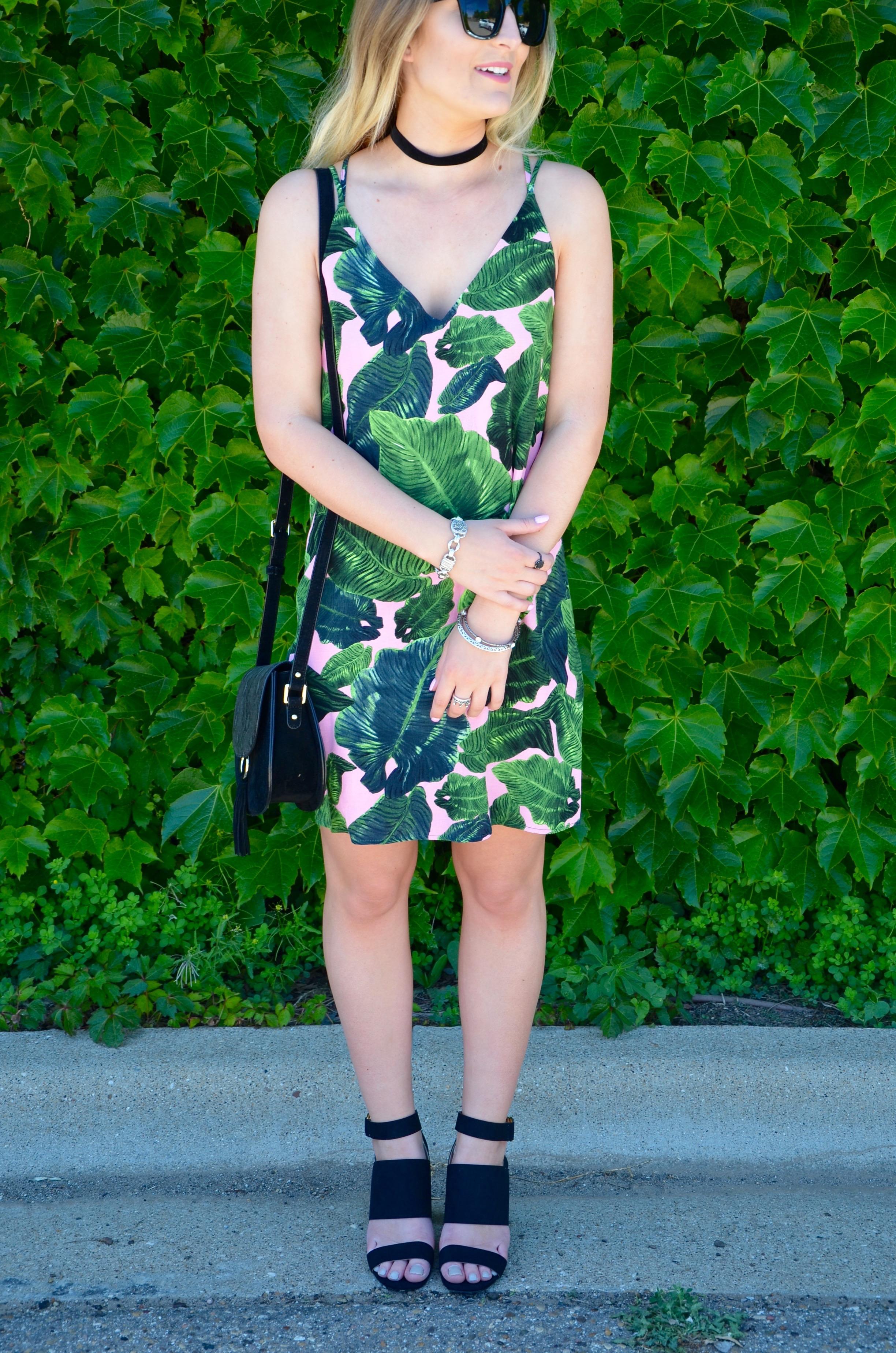 topshop summer leaf dress