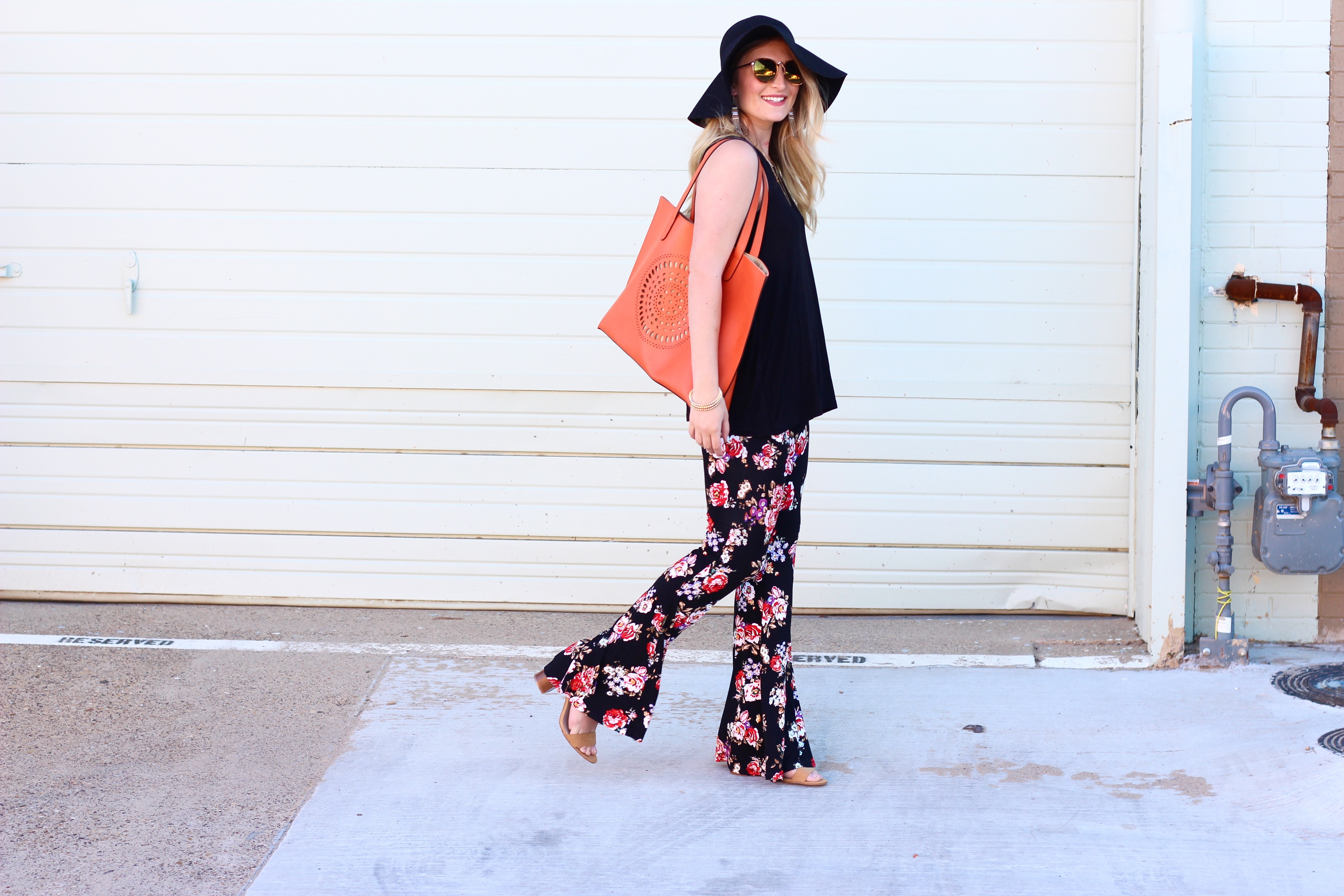 fun funky look with flared pants