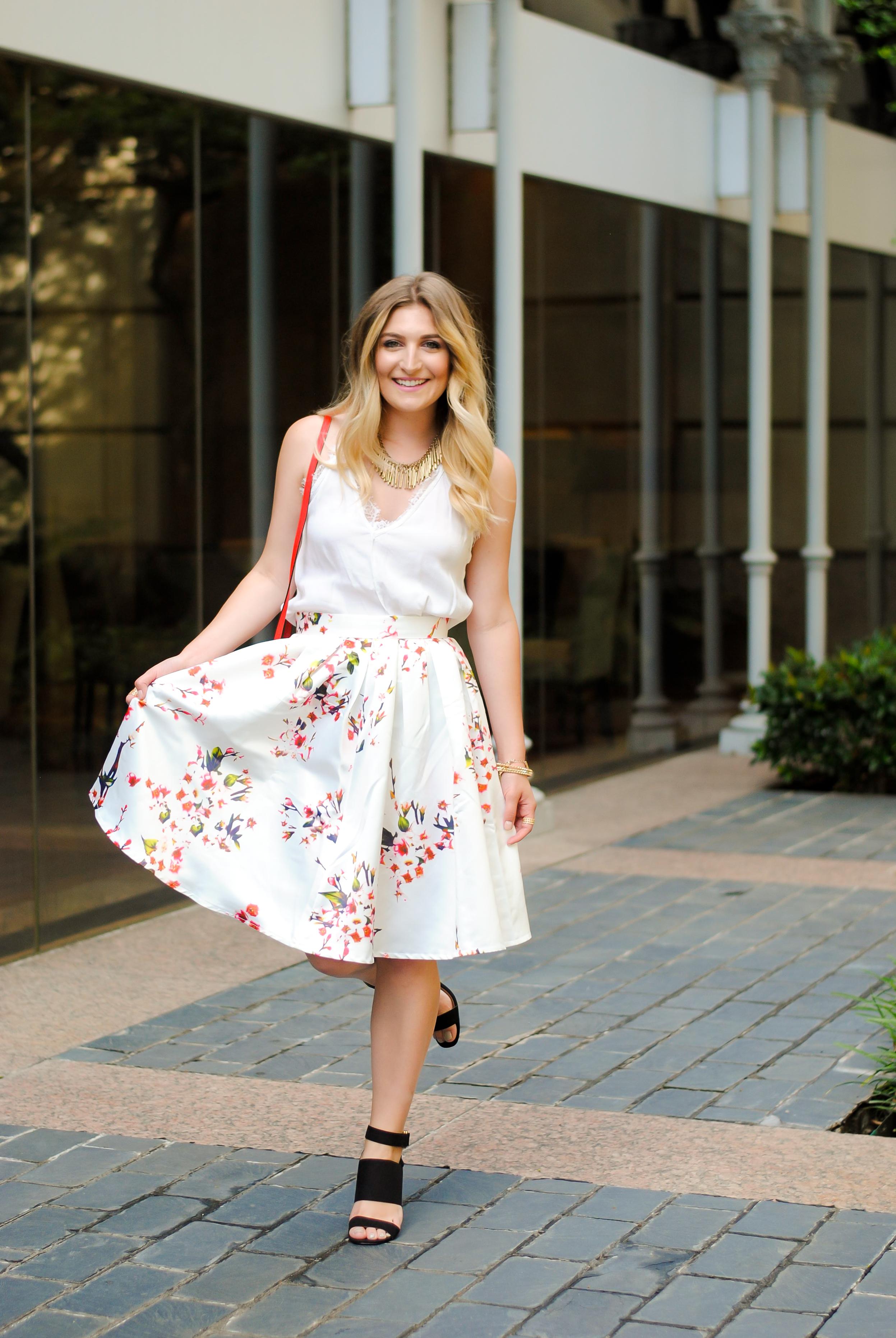 girly feminine look with SheIn | Audrey Madison Stowe Blog