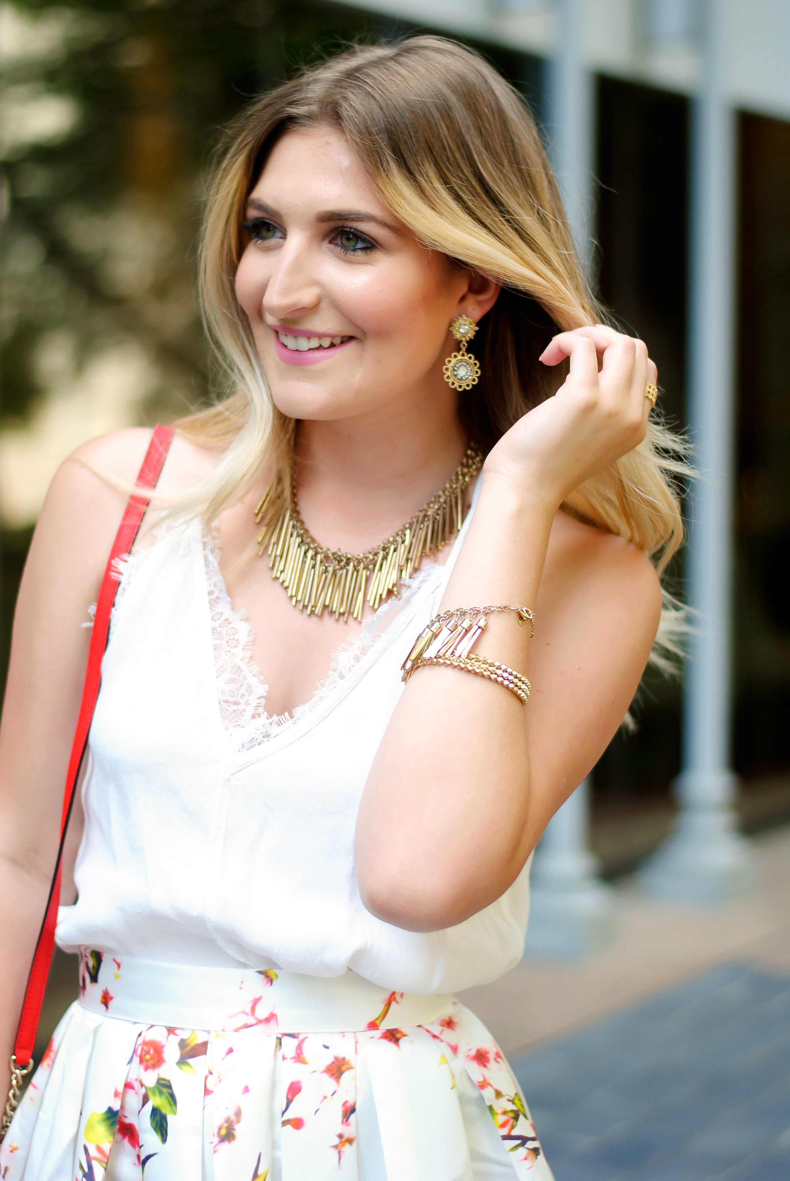 gold jewelry details for summer | Audrey Madison Stowe Blog