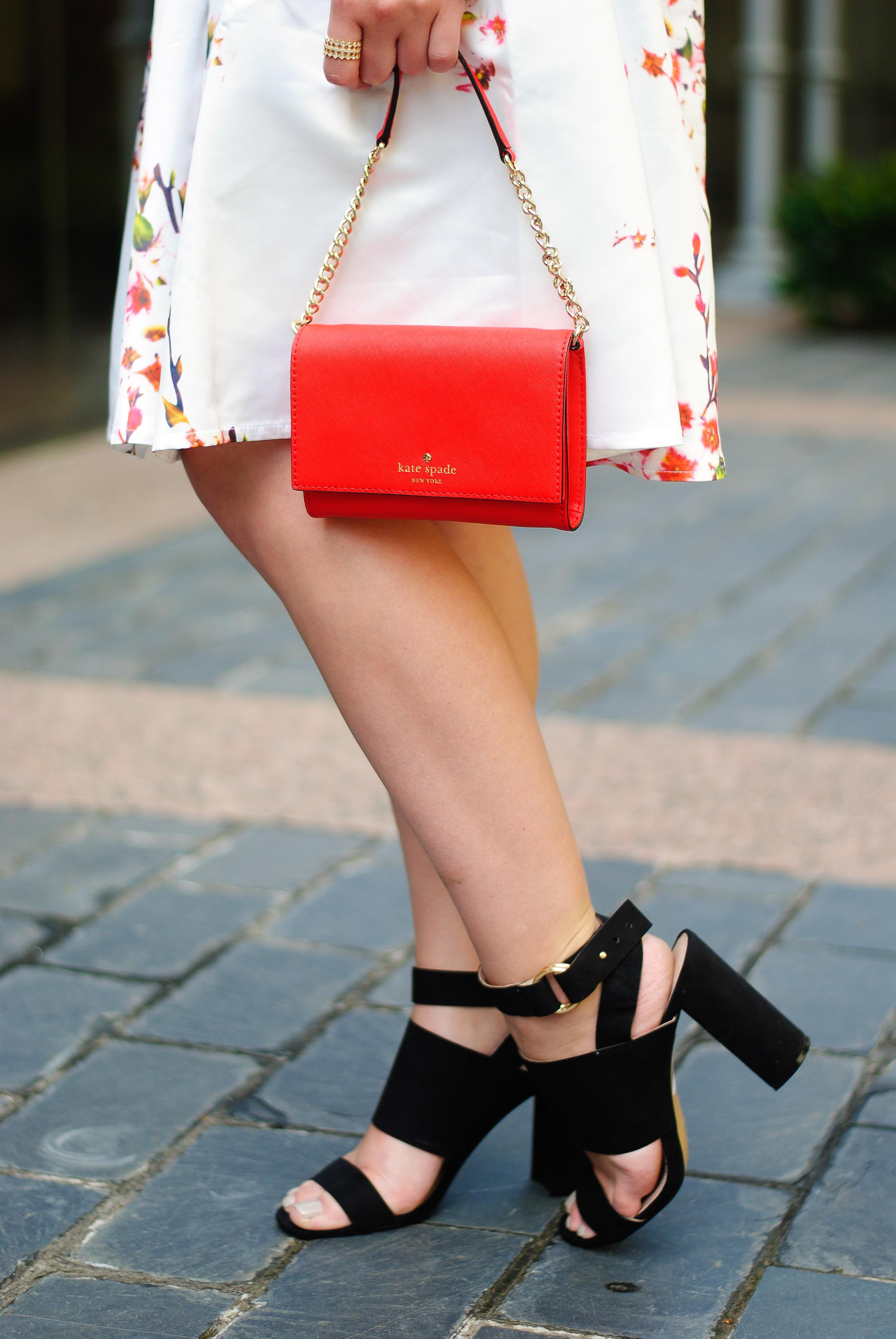 Summer skirt and block heel | Audrey Madison Stowe Blog
