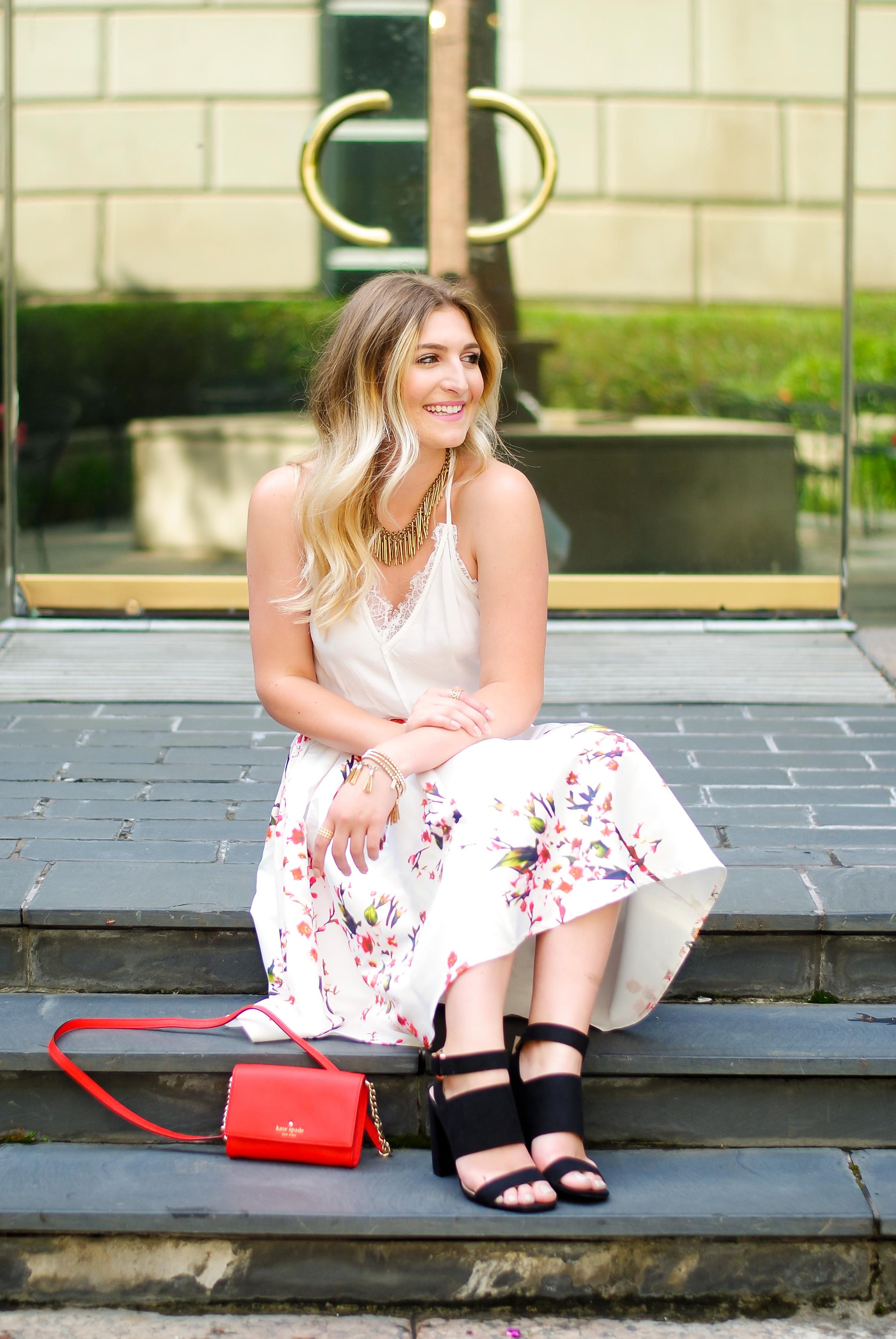 SheIn floral feminine look | Audrey Madison Stowe Blog