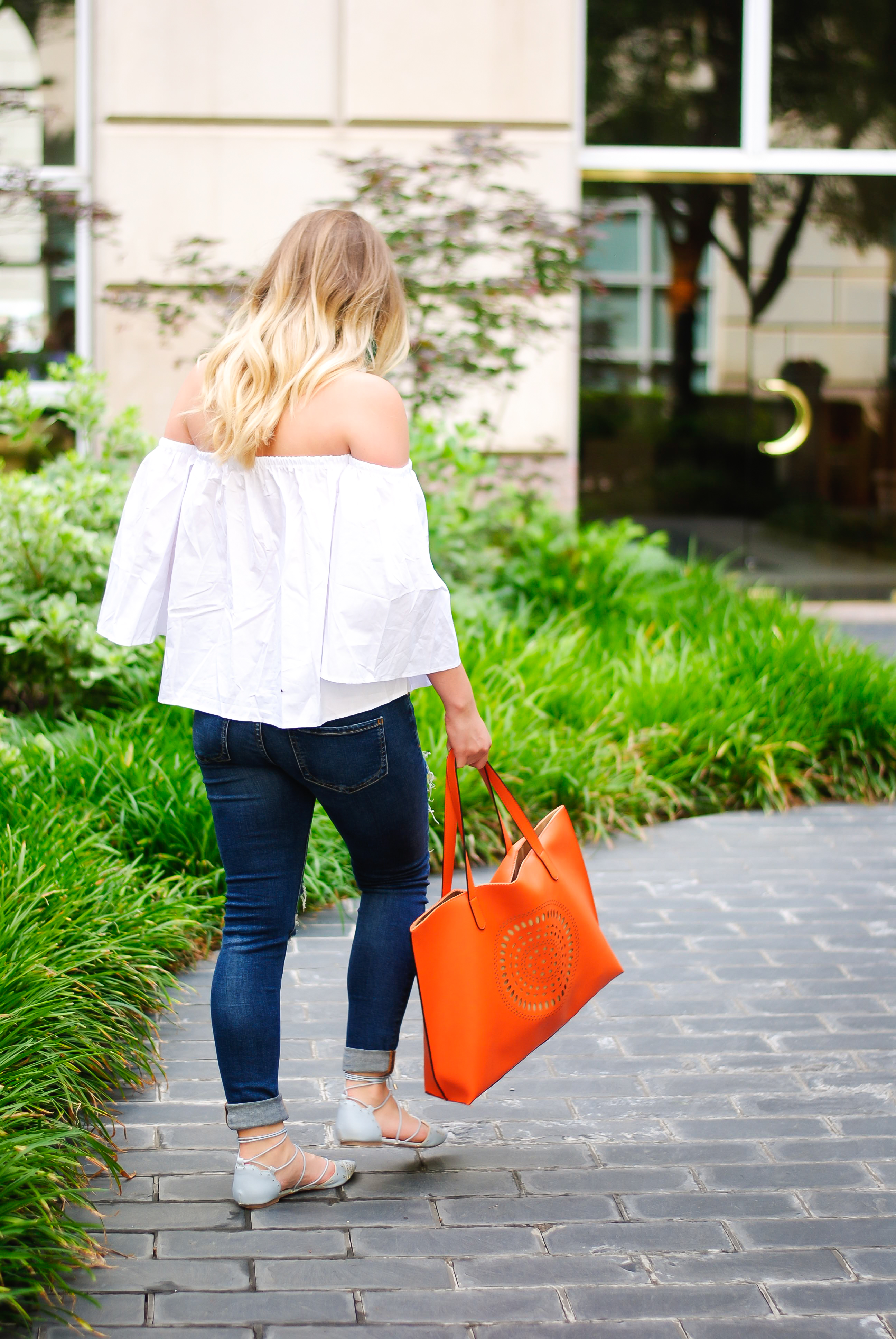 white summer top from Romwe | Audrey Madison Stowe Blog