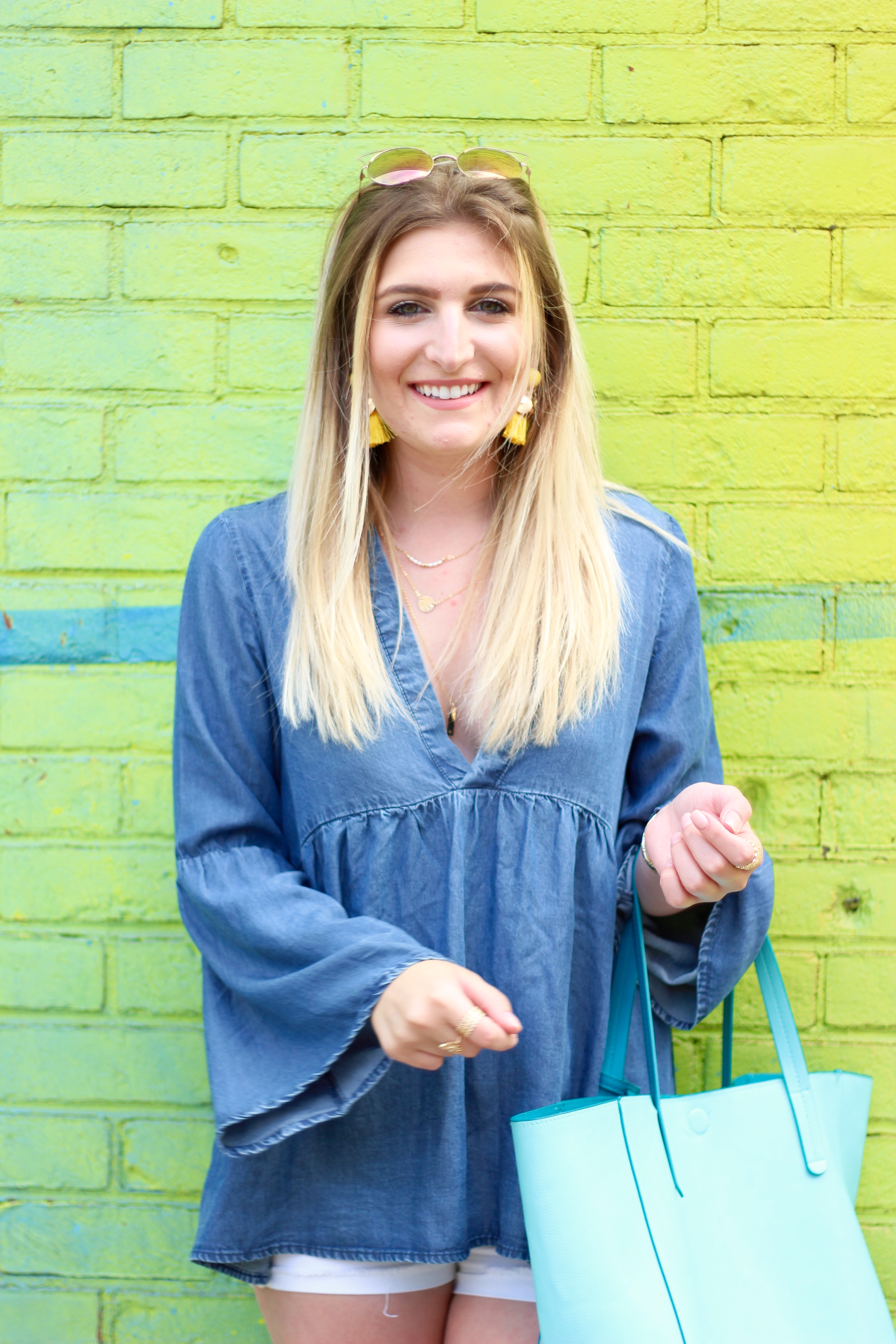 fashion blogger in brooklyn for the summer | Audrey Madison Stowe Blog - Rainbow Wall in Brooklyn by popular Texas travel blogger Audrey Madison Stowe