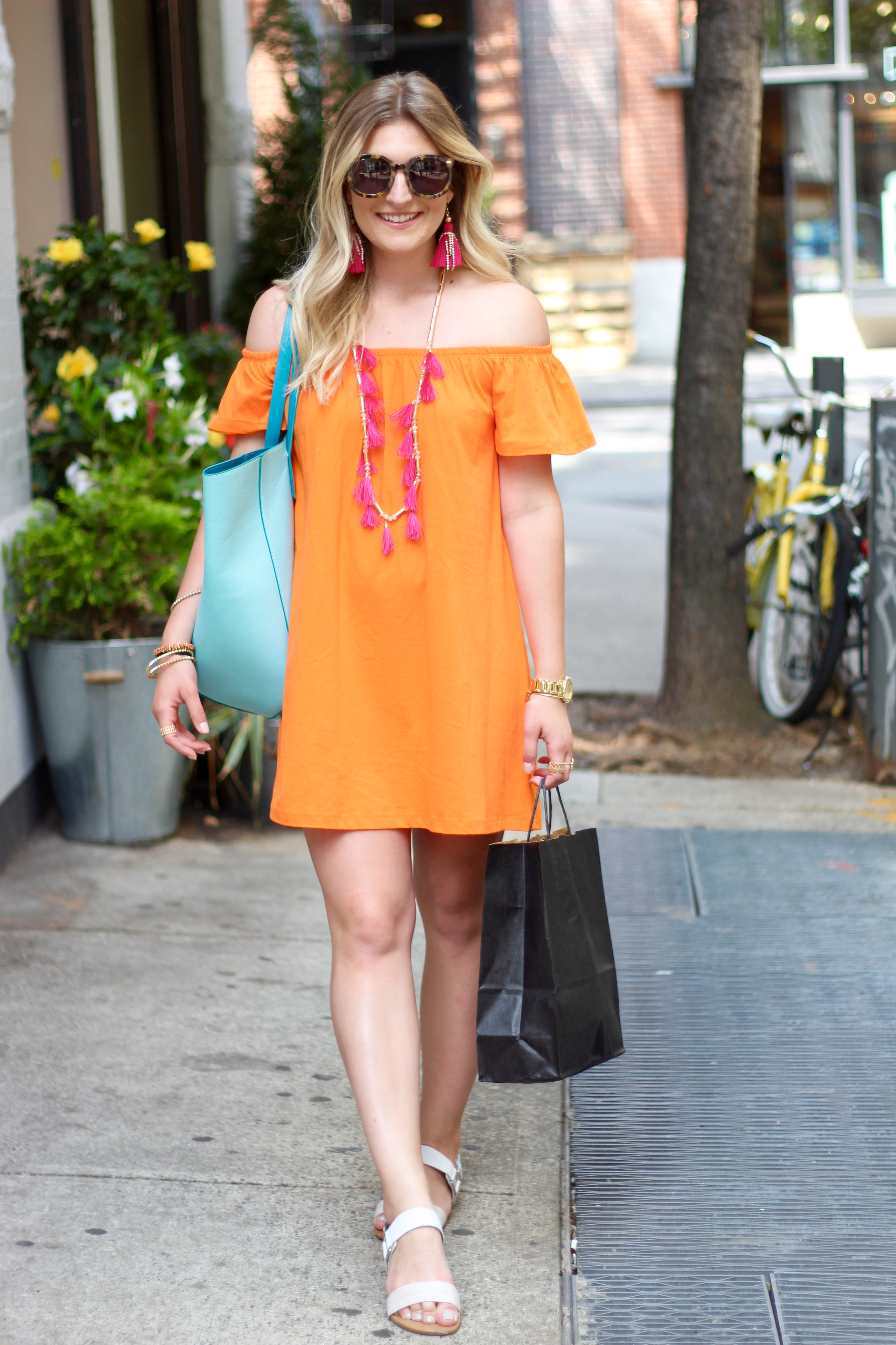asos affordable dress in soho | Audrey Madison Stowe Blog