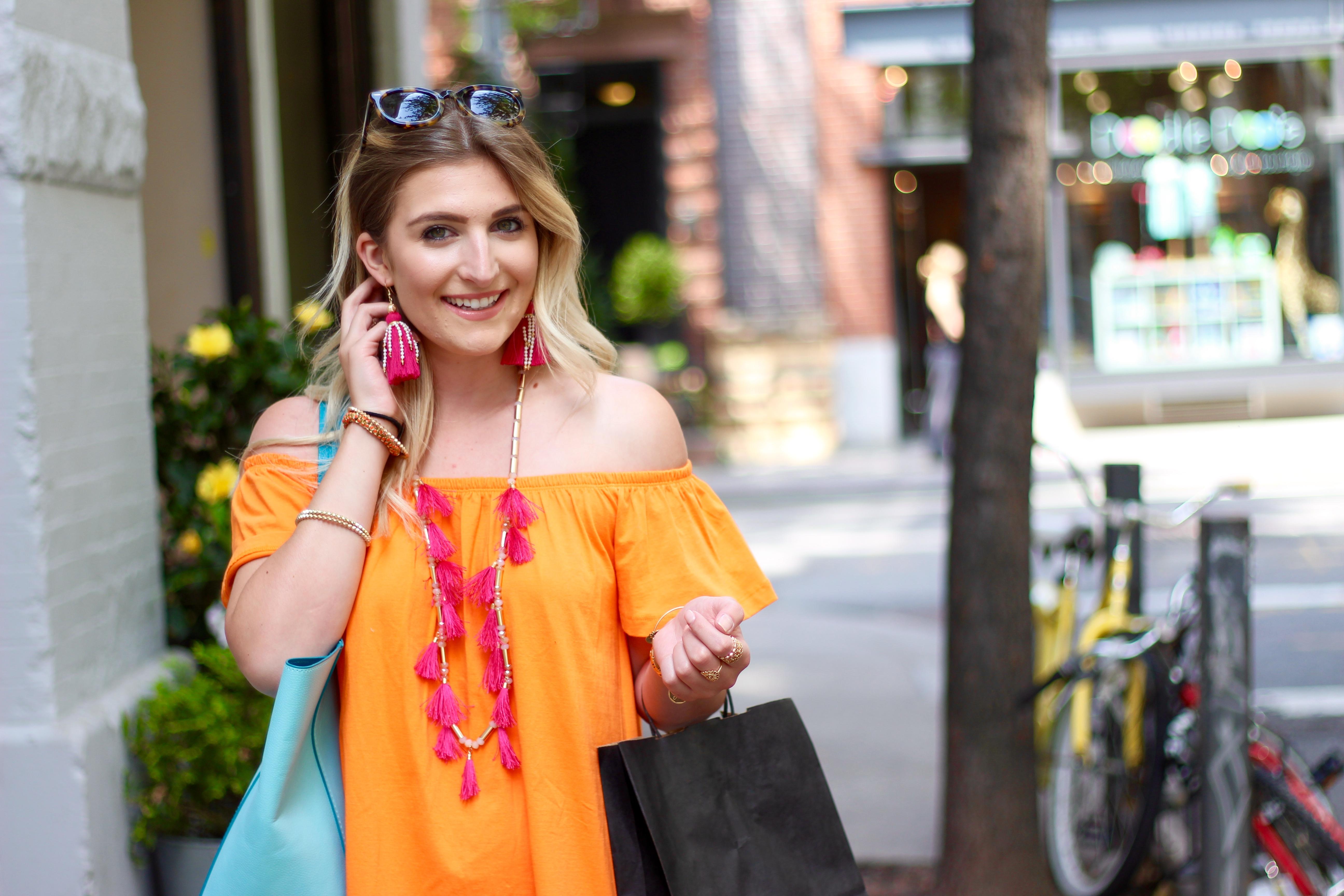 affordable tassel earrings in soho | Audrey Madison Stowe Blog