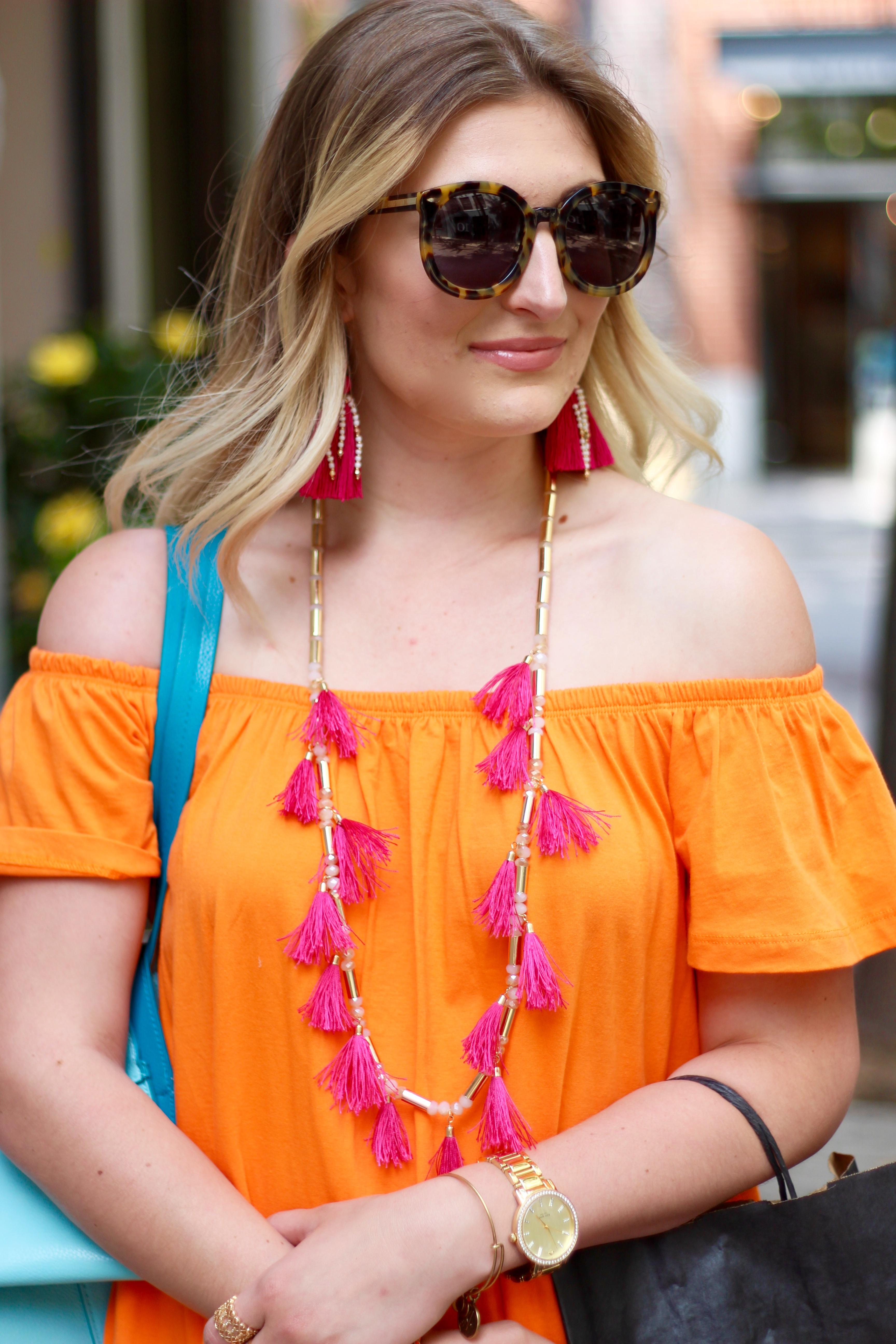 pink tassels in soho | Audrey Madison Stowe Blog