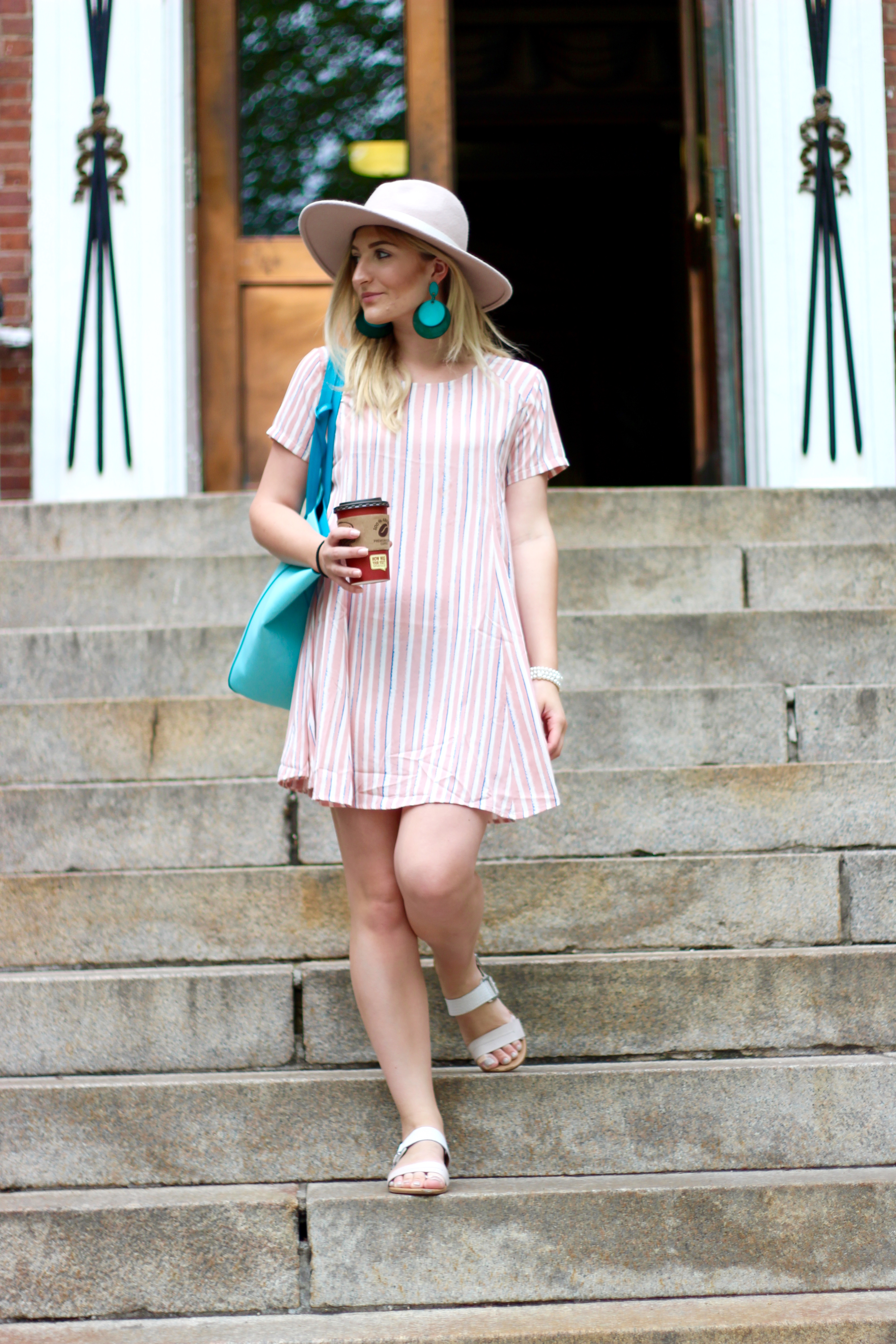 shift pastel dress | Audrey Madison Stowe Blog