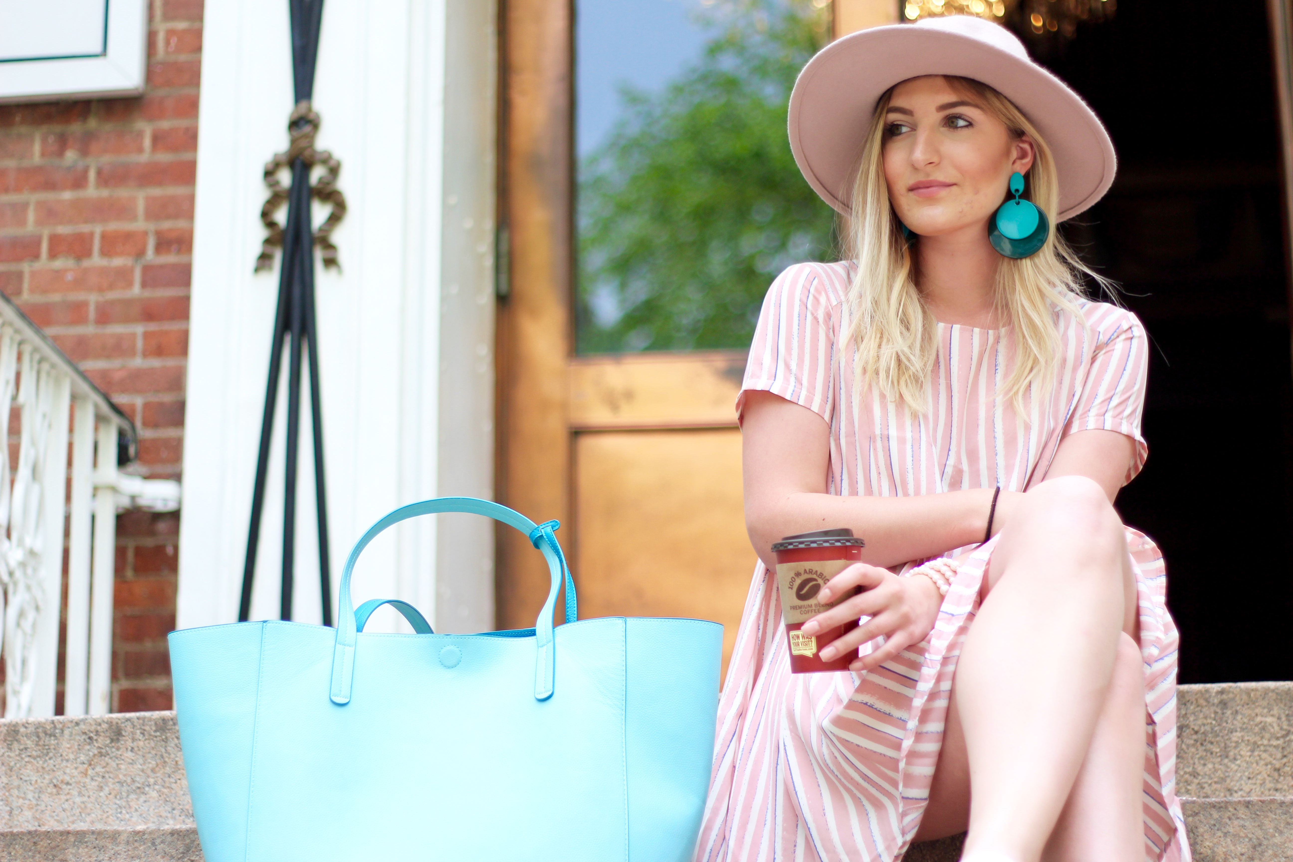 pastel outfit in nyc | Audrey Madison Stowe Blog