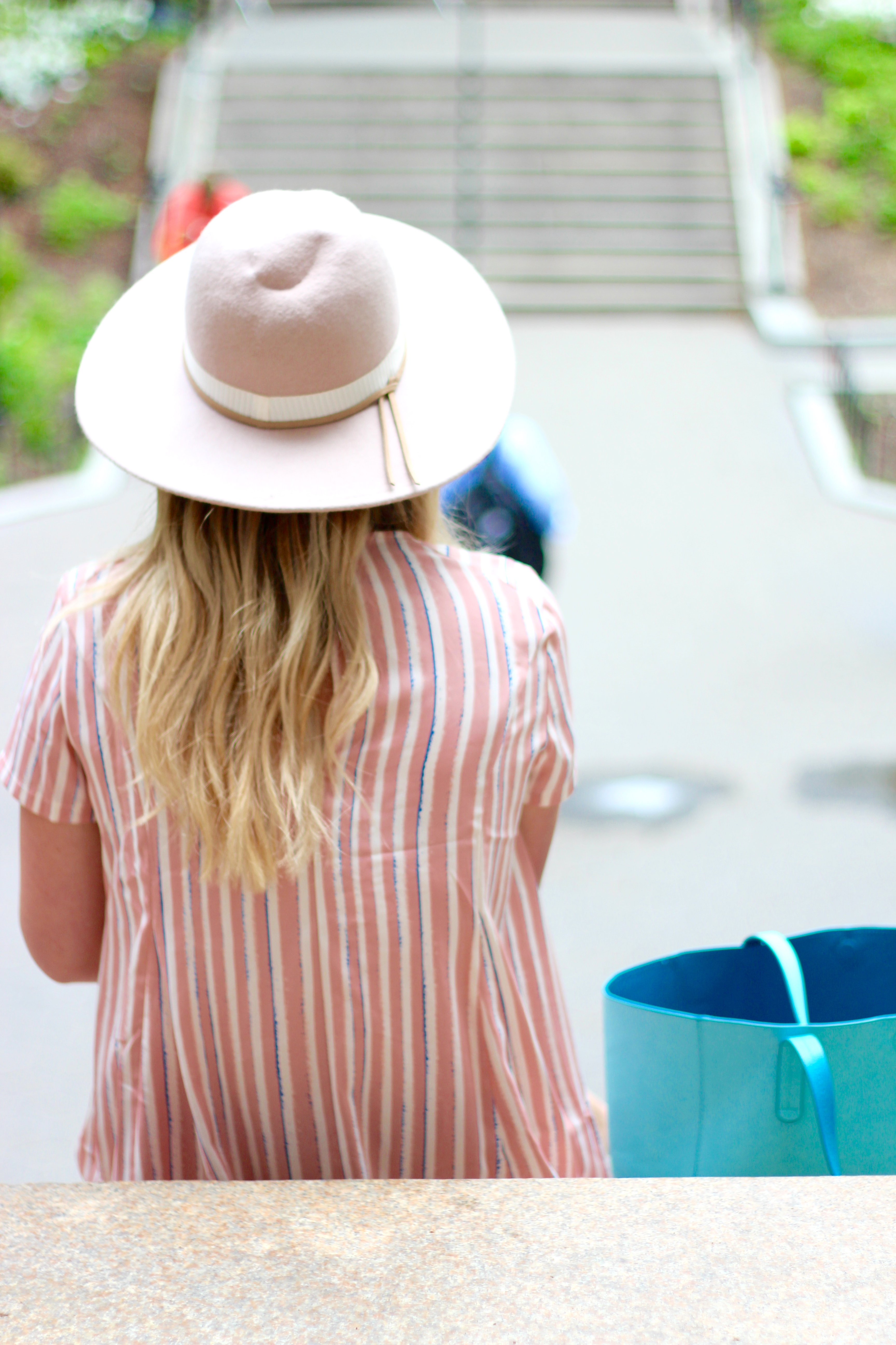 pink hat and dress | Audrey Madison Stowe Blog