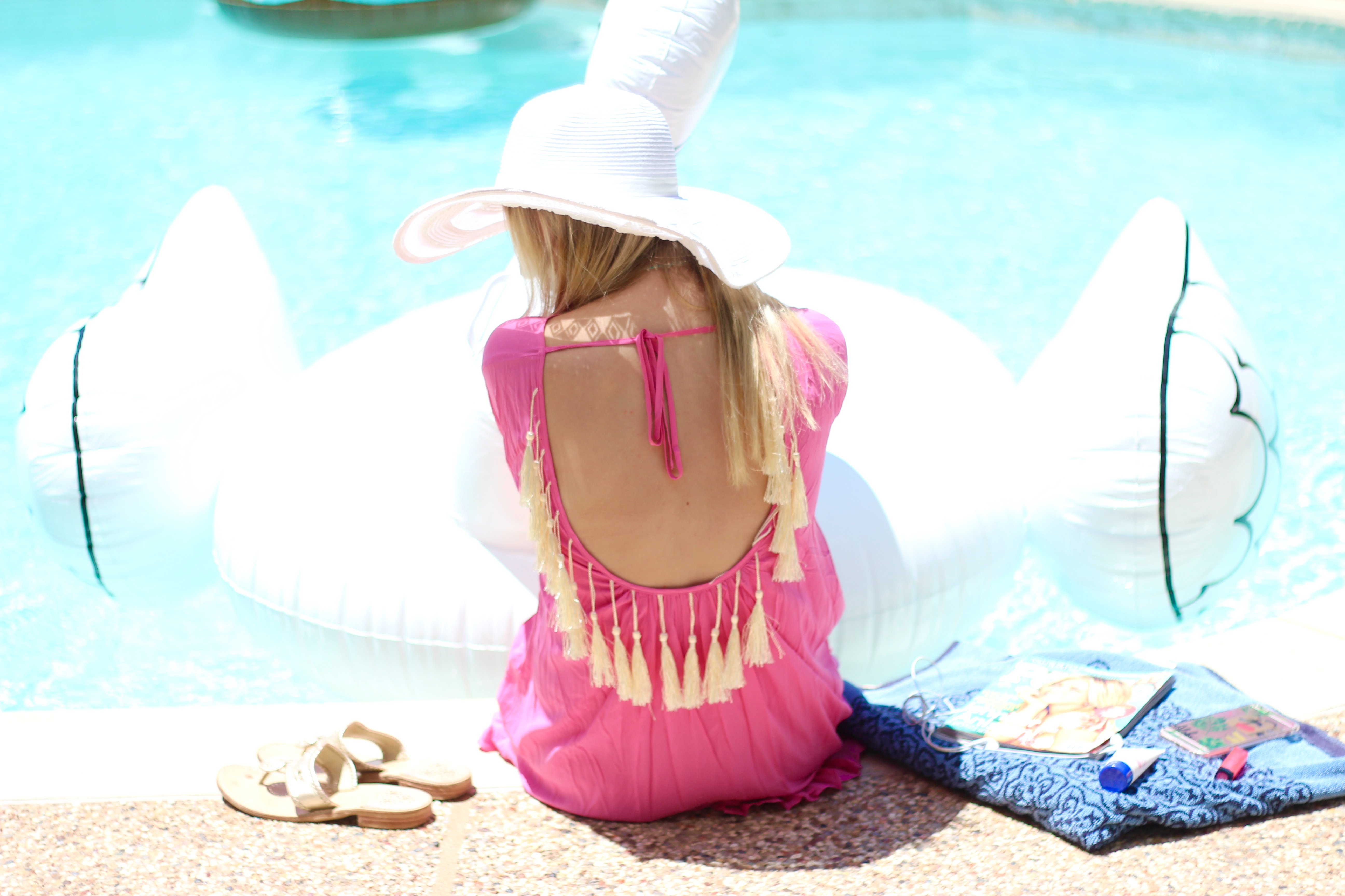 poolside in tassels | Audrey Madison Stowe Blog