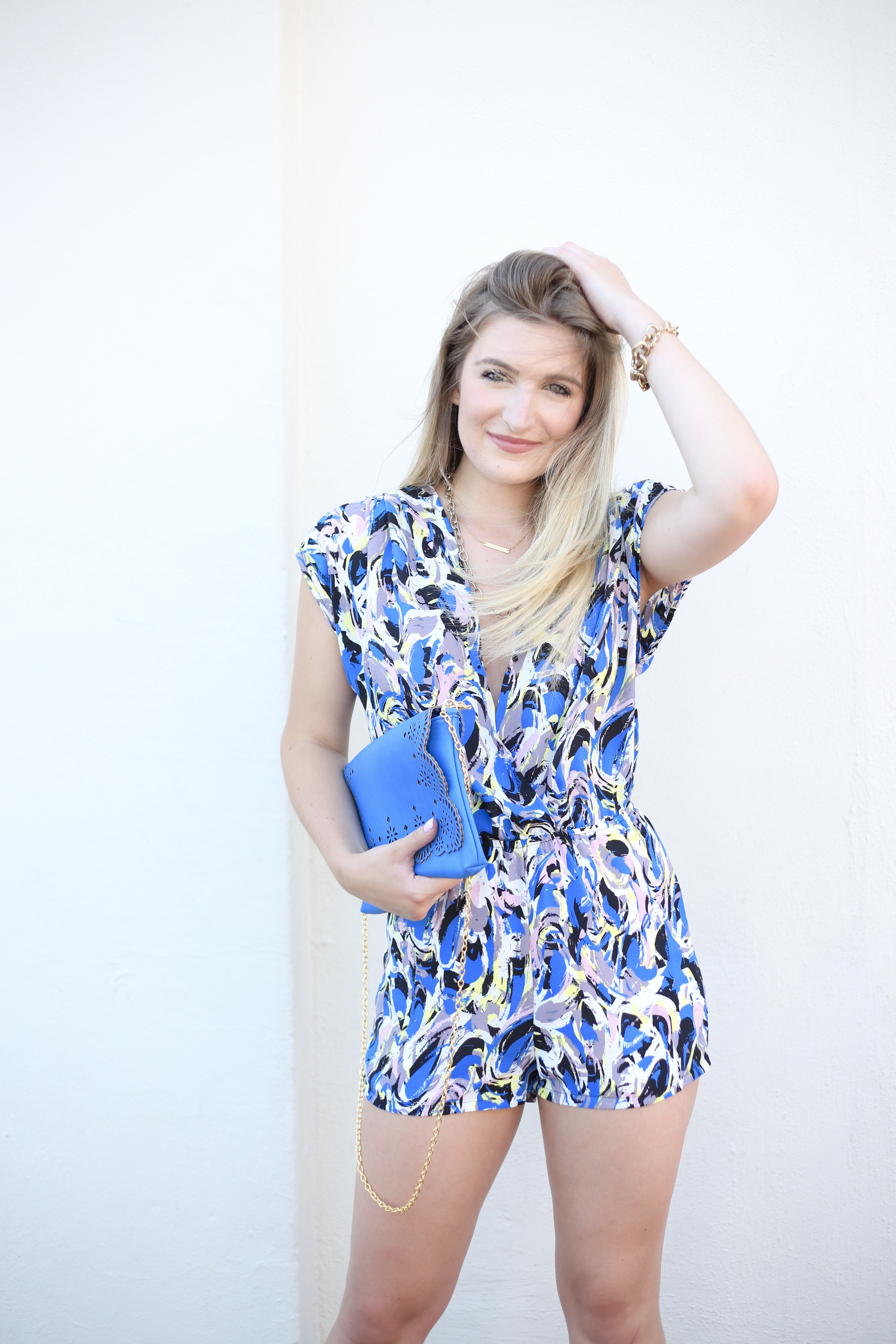 Blue Watercolor Romper | AMS Blog