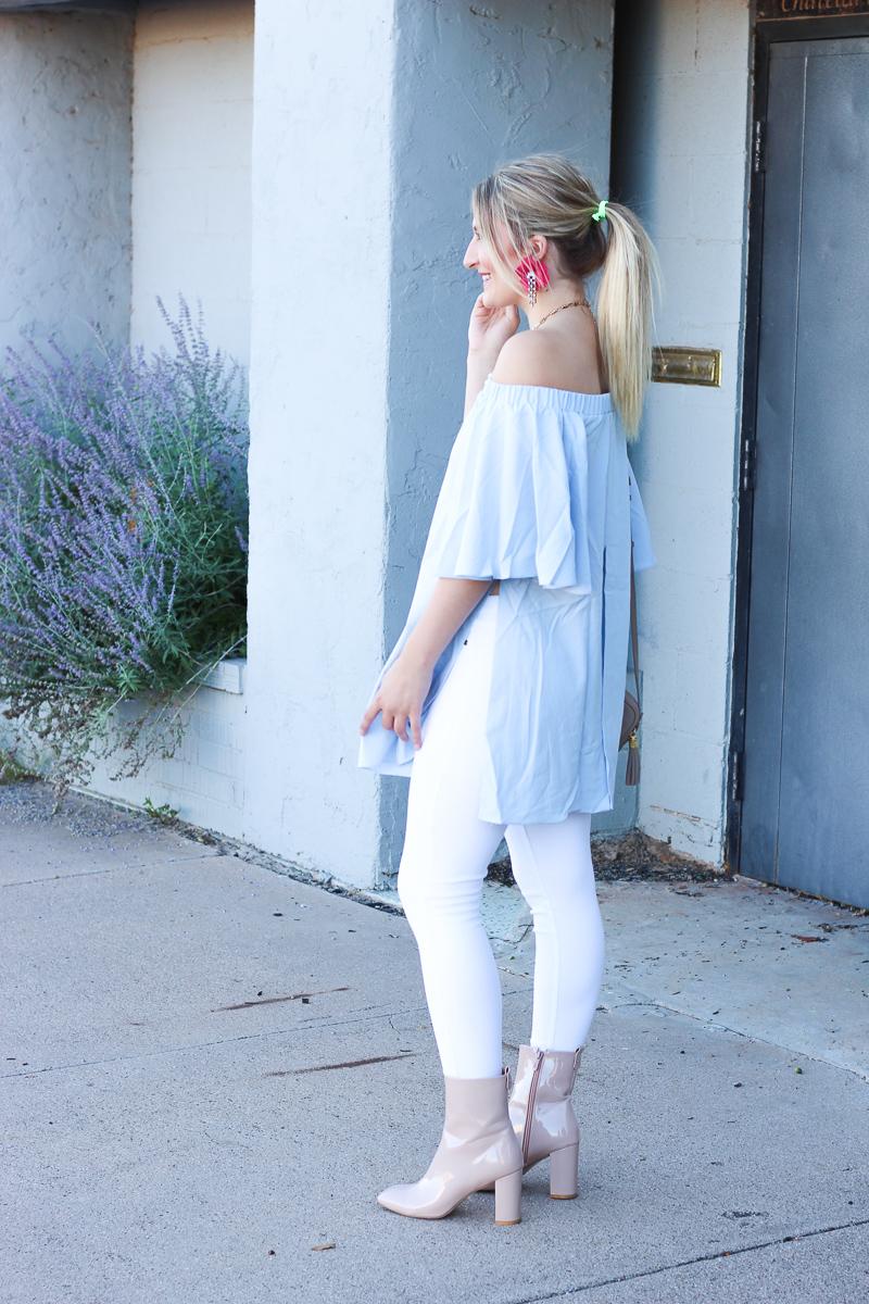 Blue OTS + Fall Glam Statement Earrings