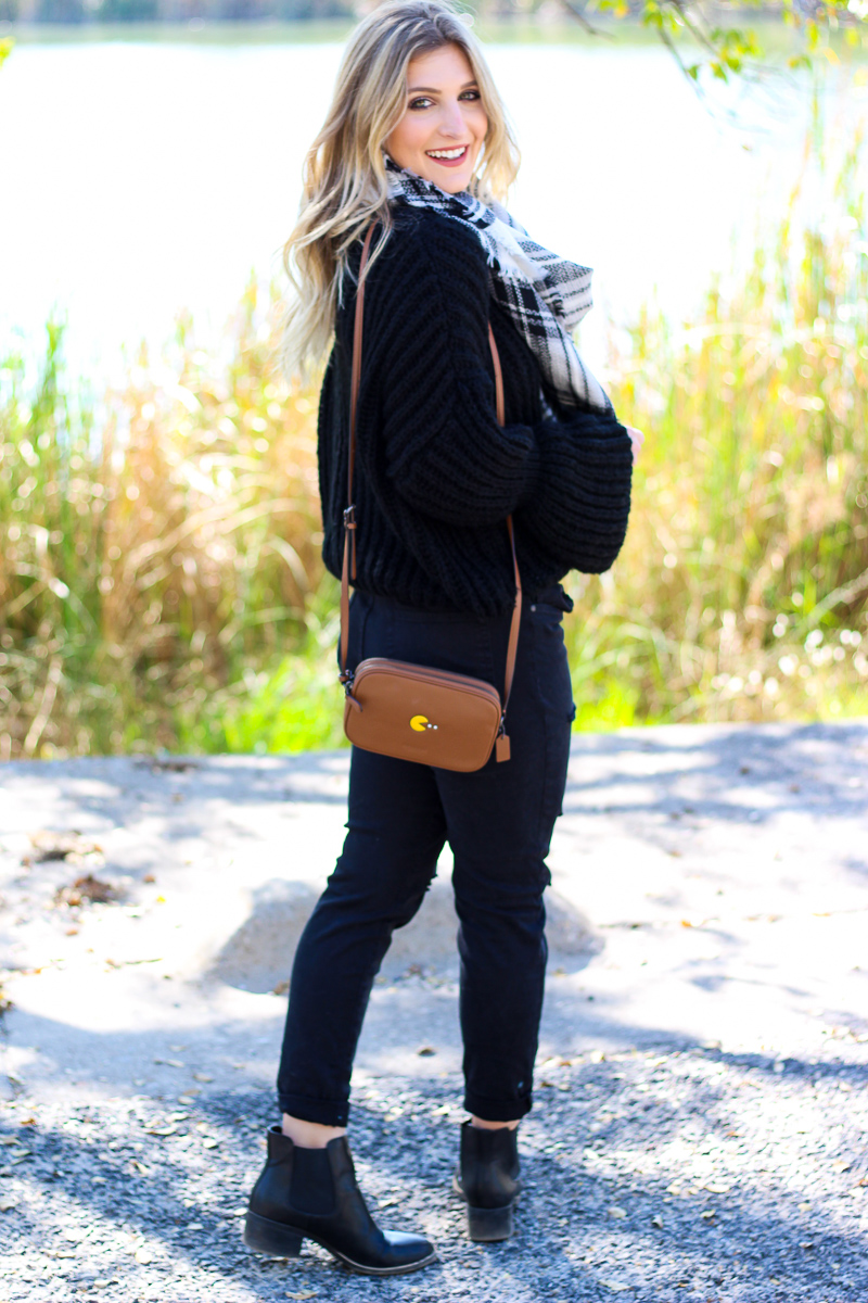 Bell sleeved Sweater + Pac Man Crossbody | AMS Blog