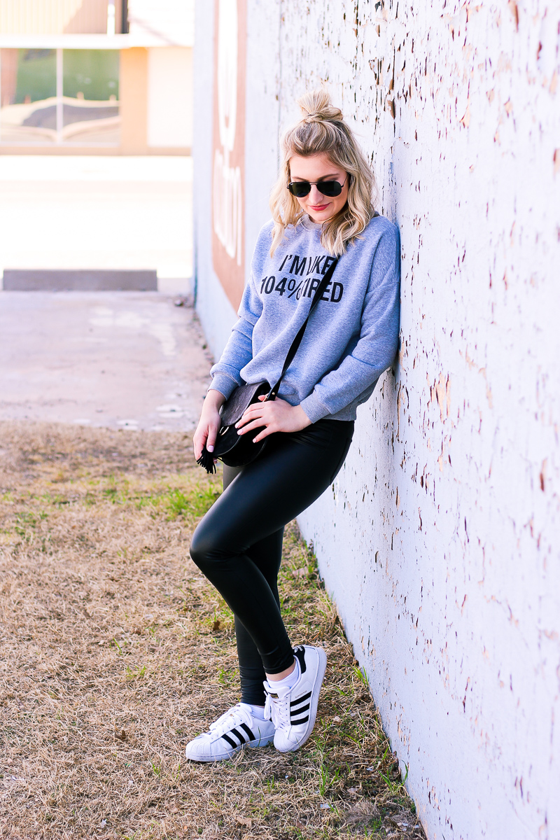 I'm like 104% Tired Athleisure wear by lifestyle and fashion blogger Audrey Madison Stowe