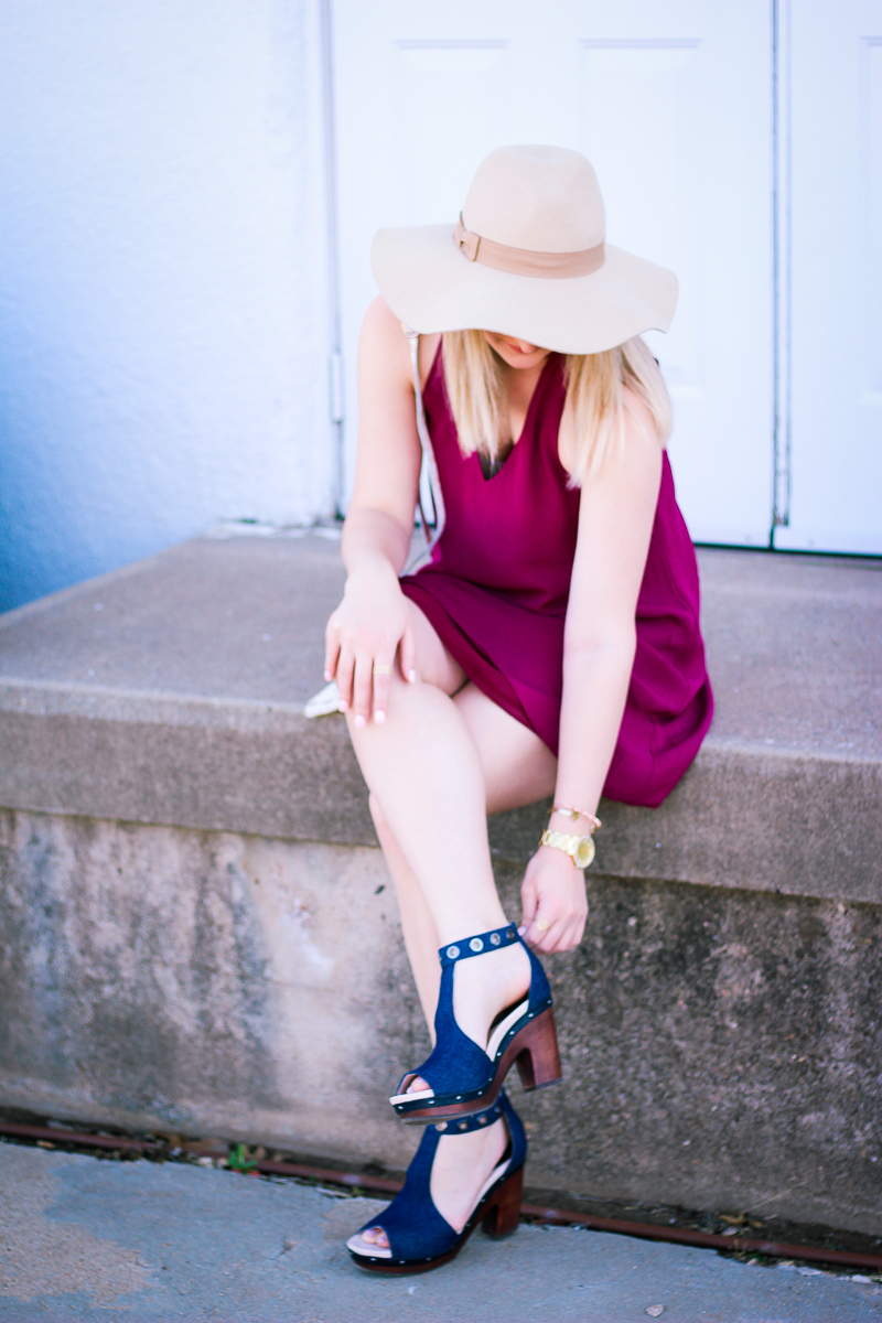Spring Denim Heels With Jambu Footwear | by life and fashion blogger Audrey Madison Stowe
