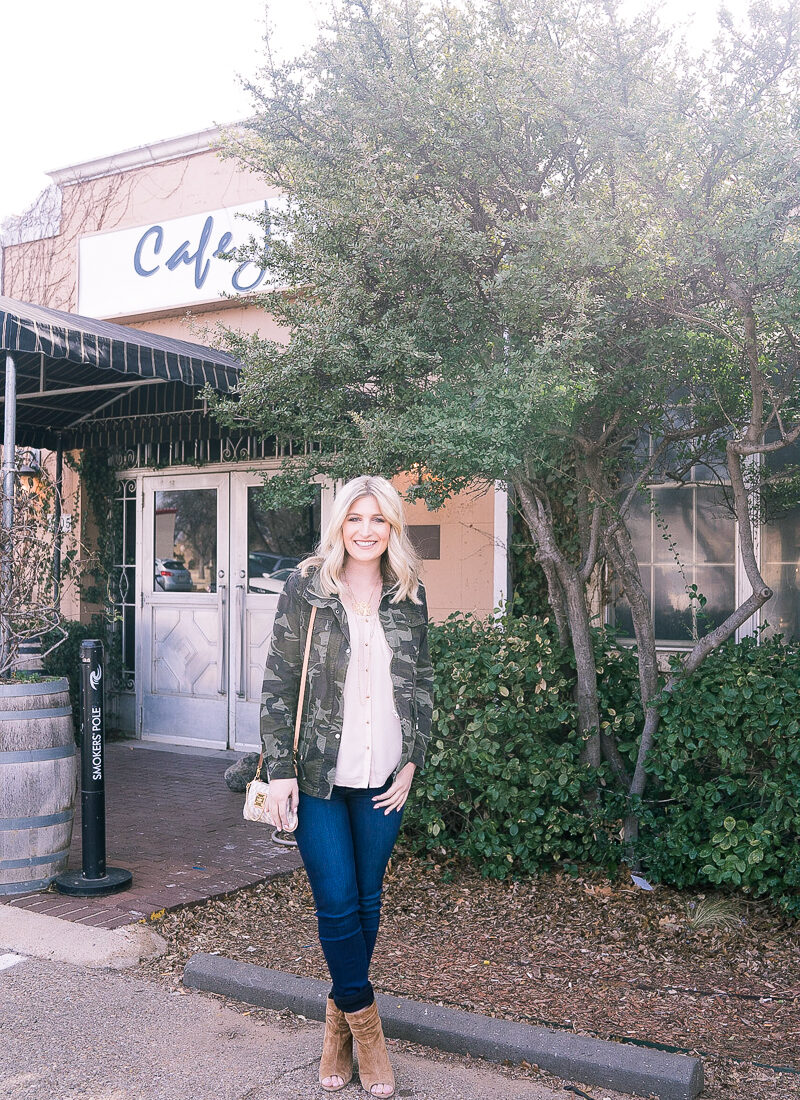 Dressing Up Camo with West Texas Bloggers at Brunch by lifestyle and fashion blogger Audrey Madison Stowe
