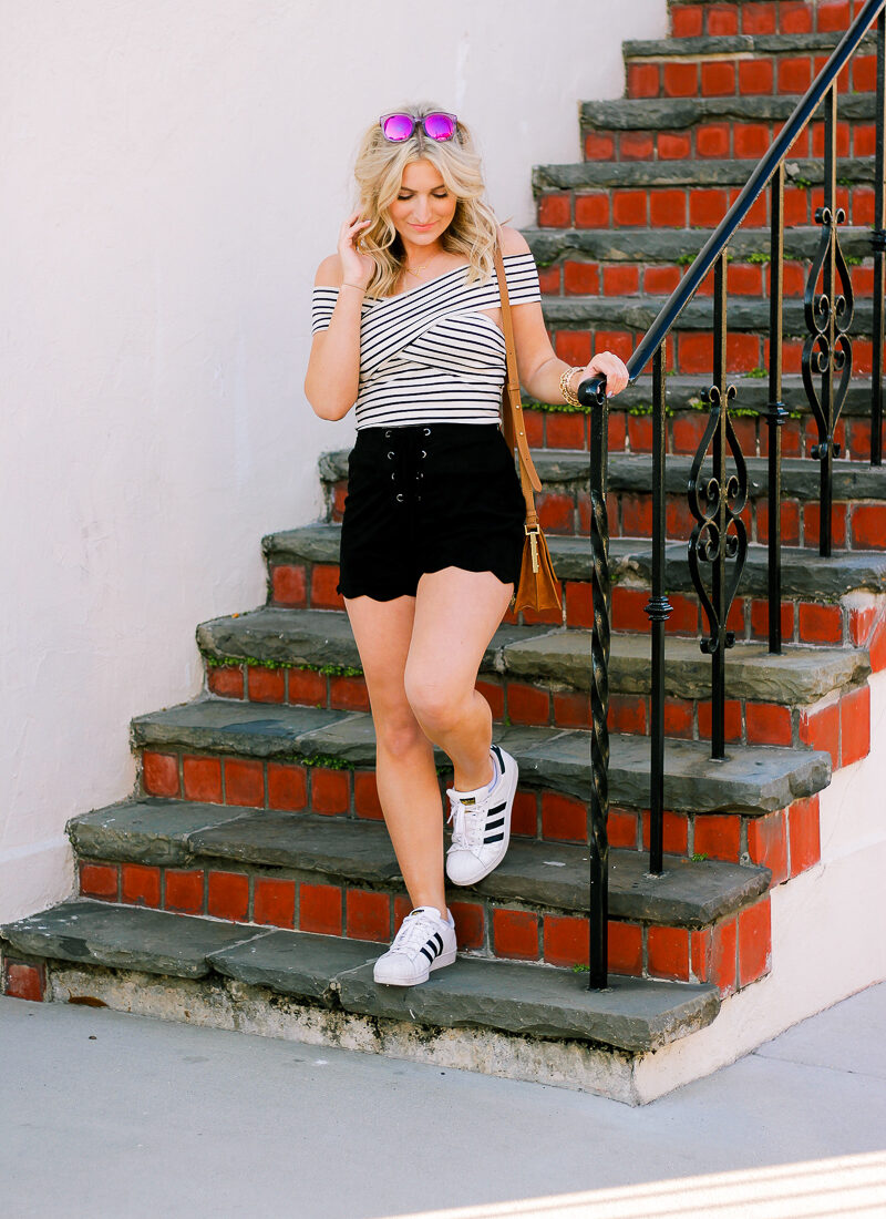 Casual Striped Top + Week Catch-up