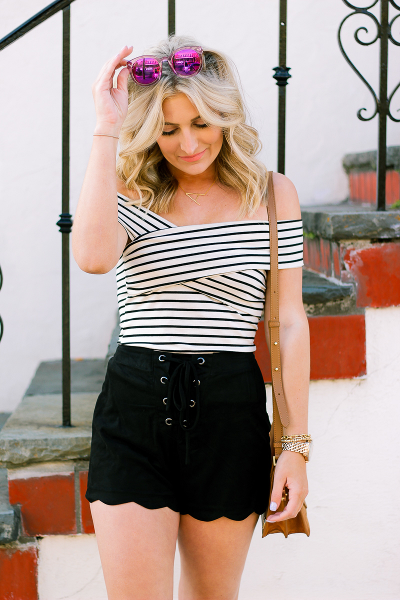 Casual Striped Top You can Wear with anything by lifestyle and fashion blogger Audrey Madison Stowe