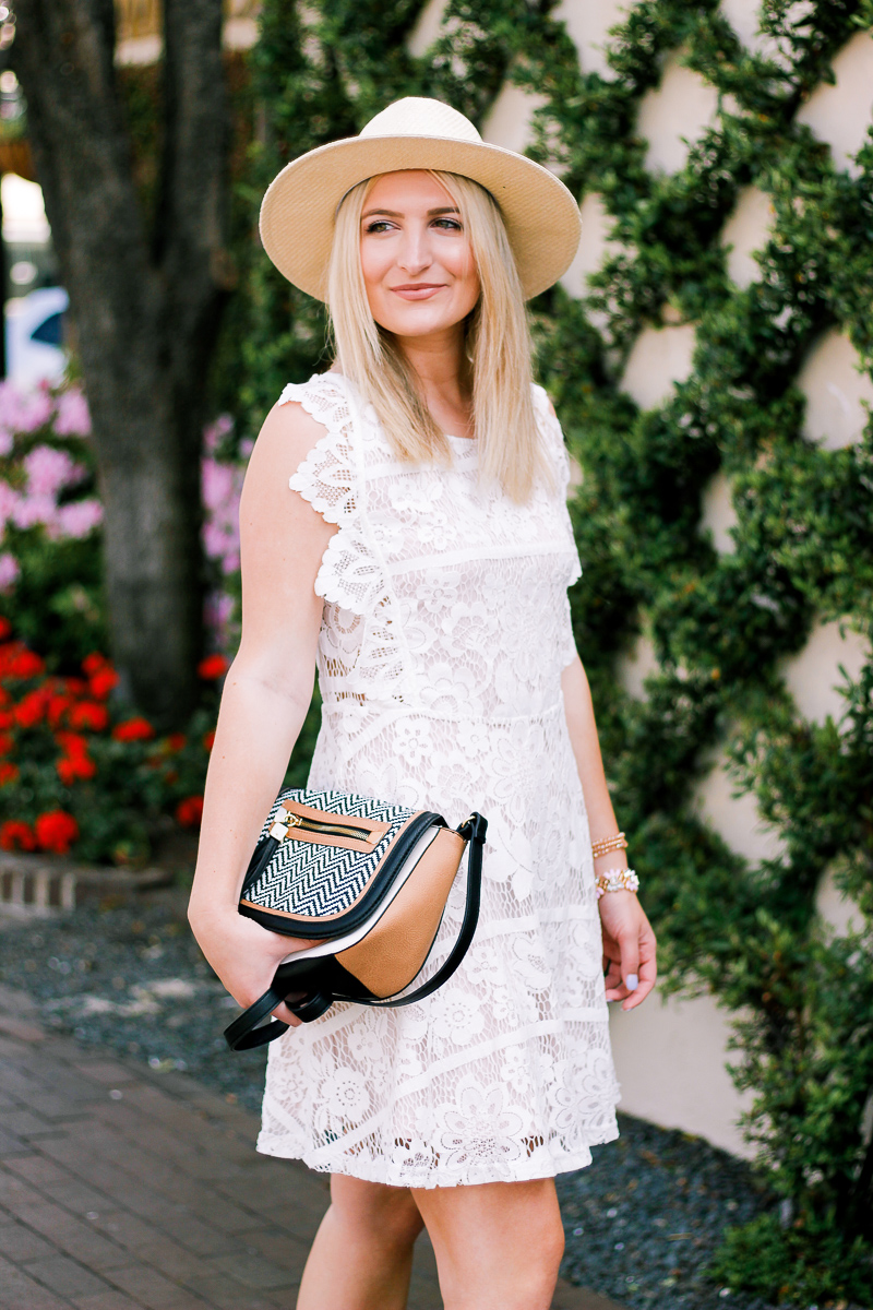 White Lace Dress For Easter by lifestyle and fashion blogger Audrey Madison Stowe