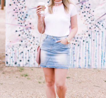 How To Style A Denim Skirt Two Ways