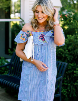 Cinco De Mayo Inspo with Embroidered Dress by lifestyle and fashion college blogger Audrey Madison Stowe - Embroidered Cinco De Mayo Dress styled by popular Texas fashion blogger, Audrey Madison Stowe