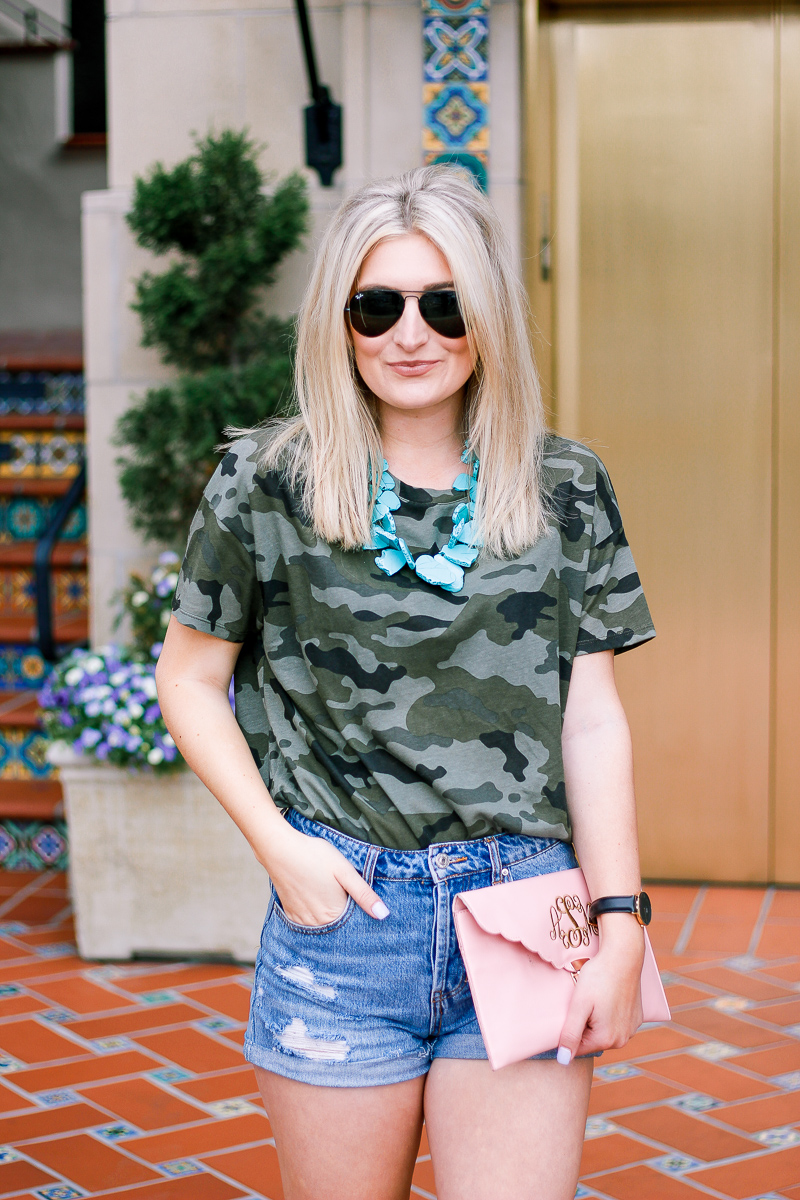 Hello Summer Featuring Camo and lots of color by fashion and lifestyle blogger Audrey Madison Stowe