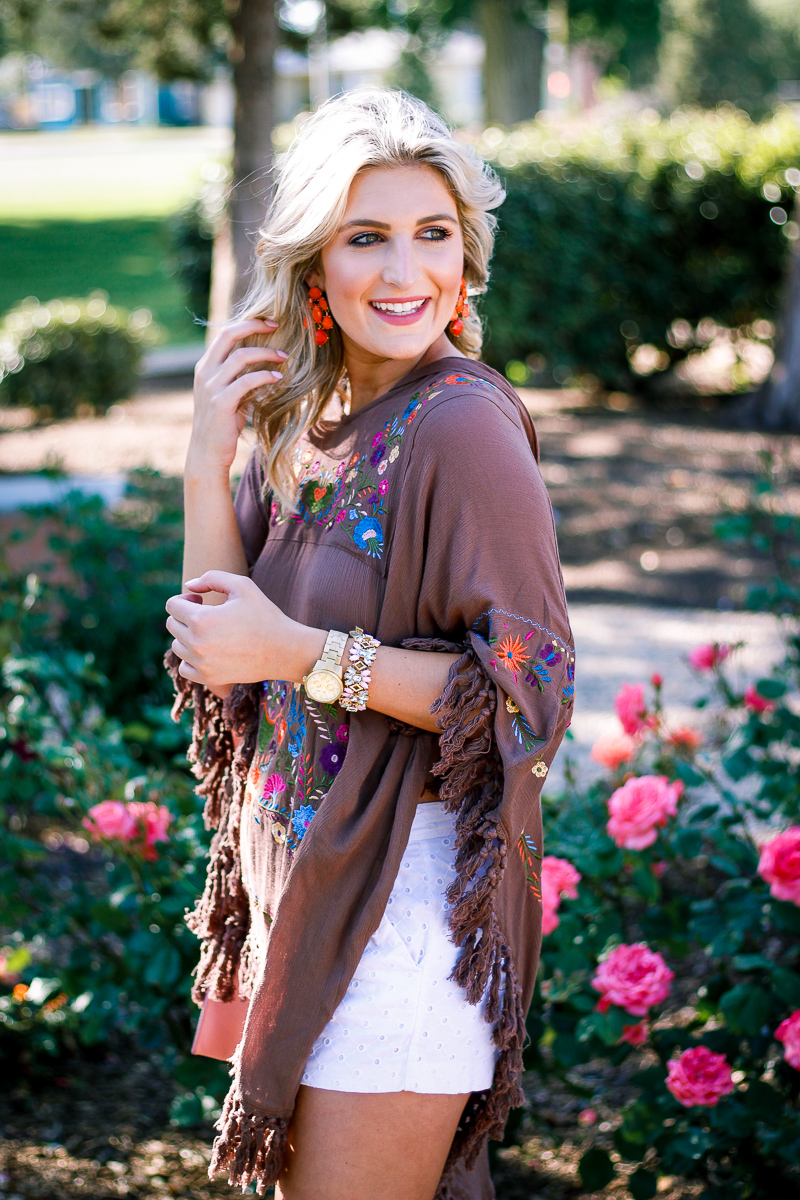 Styling A Spring Poncho by Audrey Madison Stowe lifestyle and fashion blogger